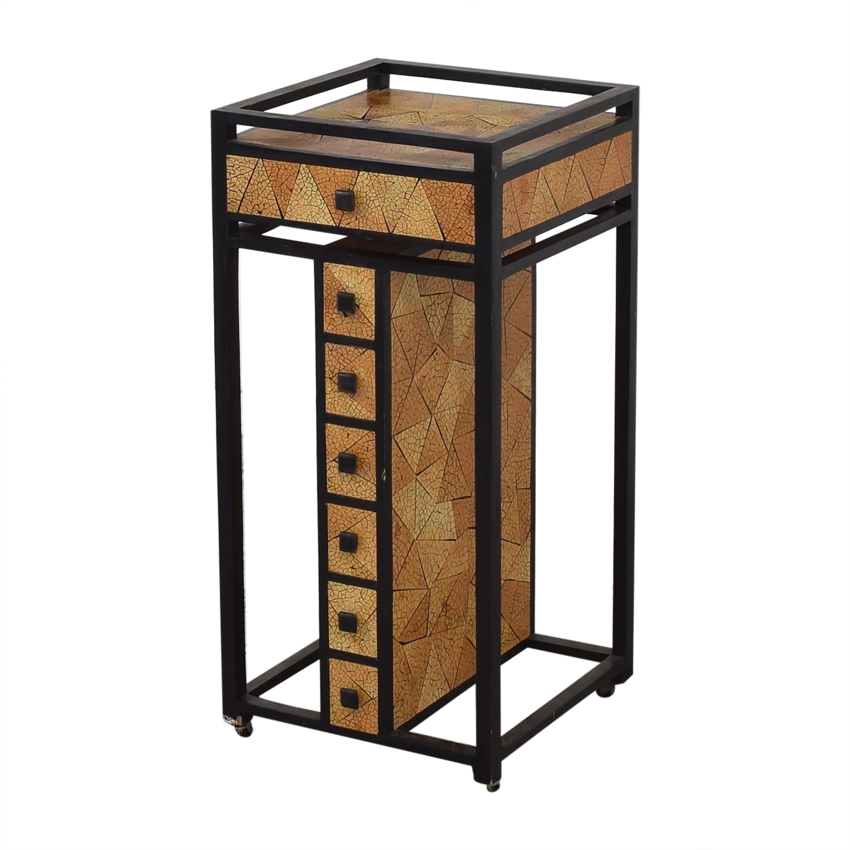 R & Y Augousti R & Y Agousti Hancrafted Artisnal Cabinet on Castors ma