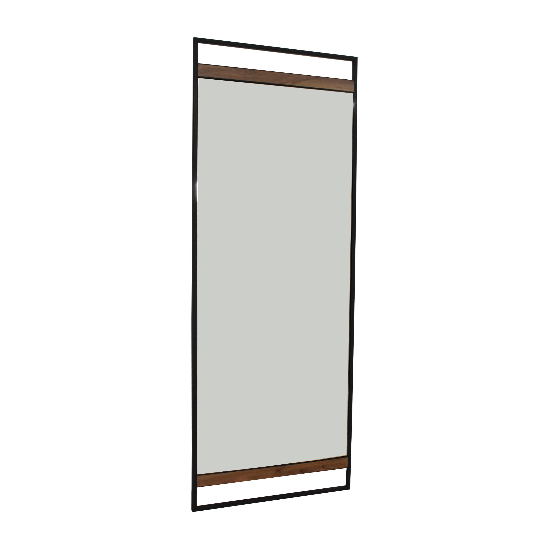 buy Crate & Barrel Crate & Barrel Knox Black Framed Floor Mirror online