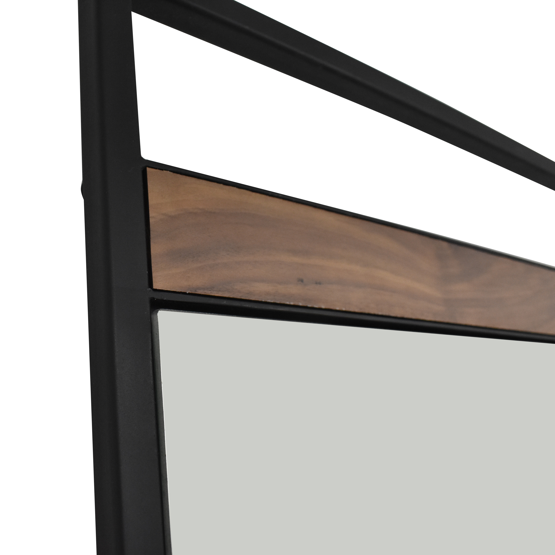 Crate & Barrel Crate & Barrel Knox Black Framed Floor Mirror second hand