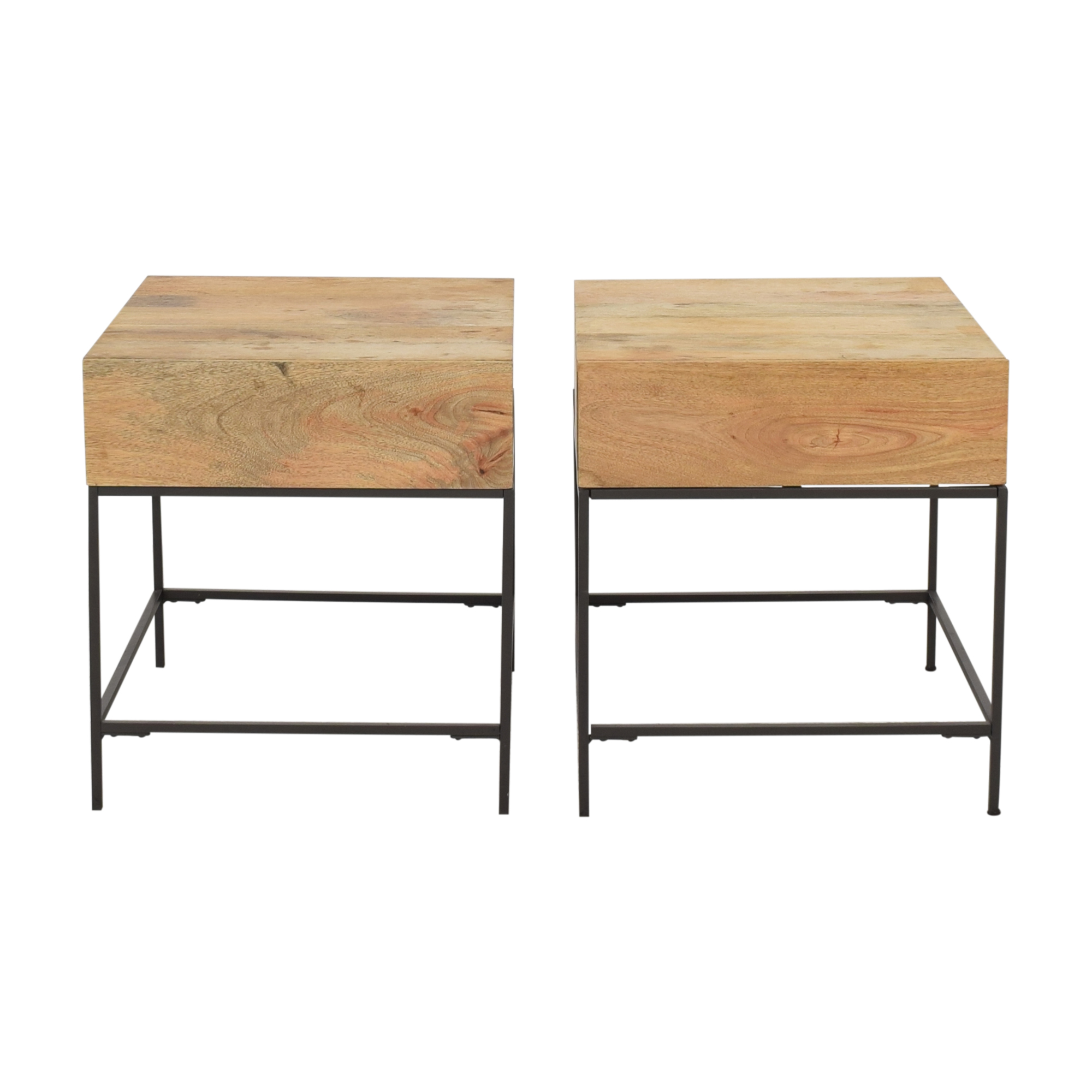 shop West Elm Industrial Storage Side Tables West Elm