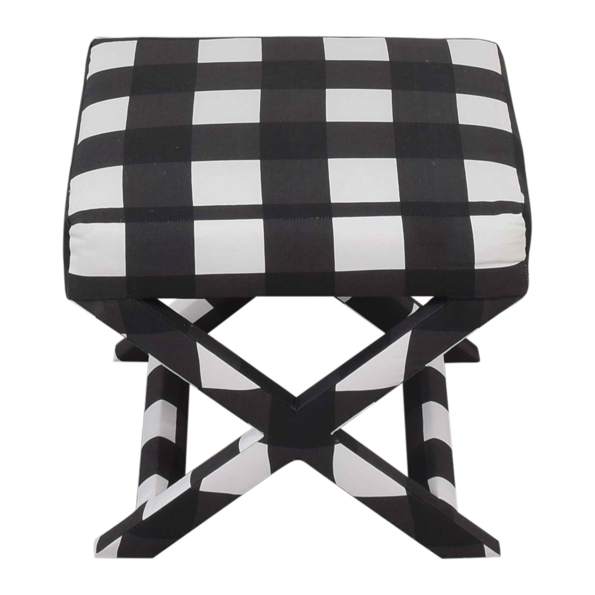 The Inside The Inside Black Check X-Bench Ottomans