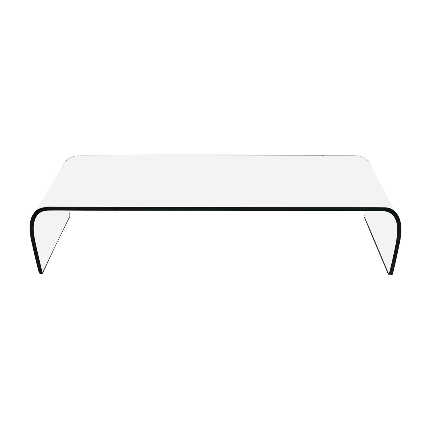 73% OFF Fiam Italia Fiam Italia Ponte Glass Coffee Table Tables