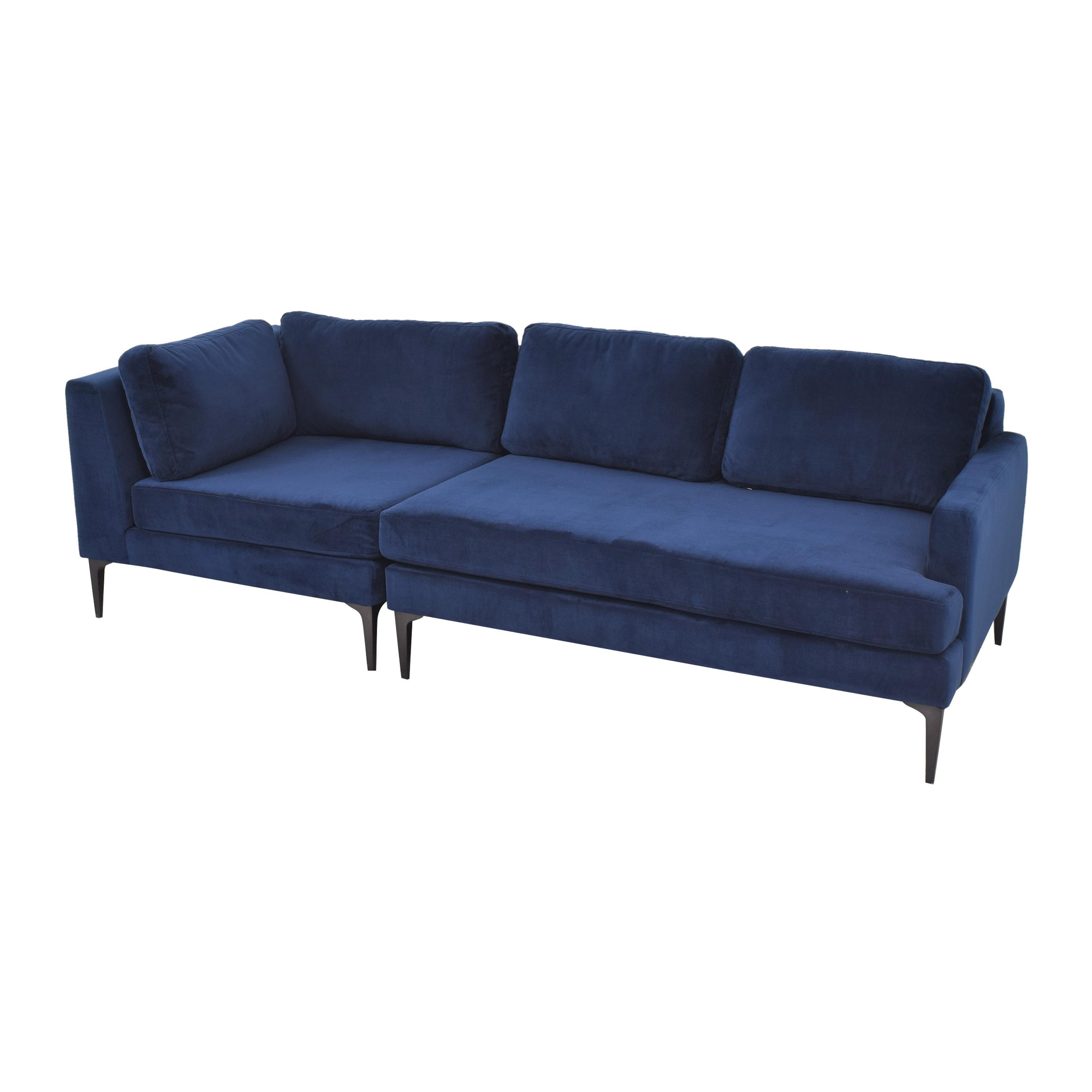 shop West Elm Andes 3-Piece Chaise Sectional West Elm Sectionals