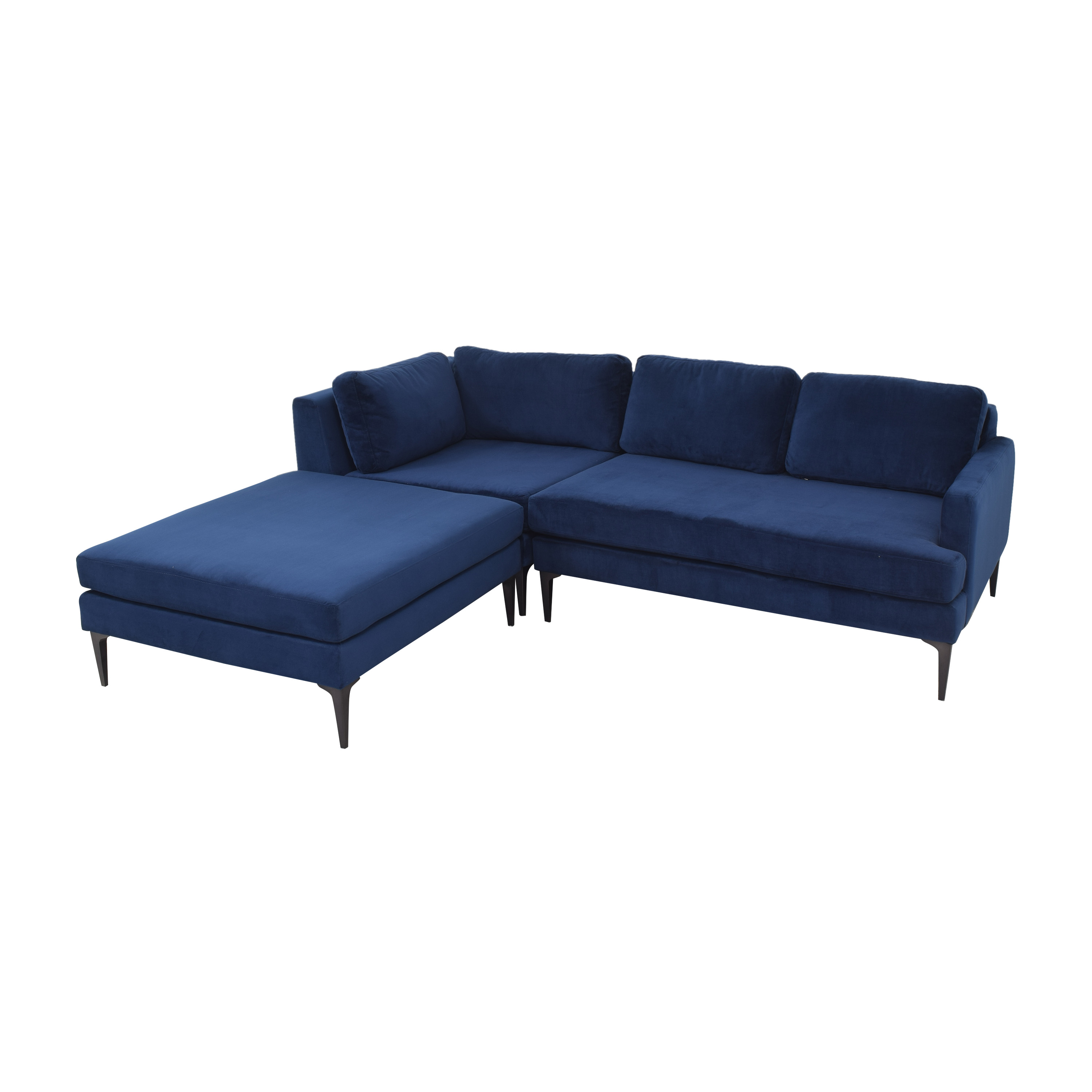 buy West Elm Andes 3-Piece Chaise Sectional West Elm Sectionals
