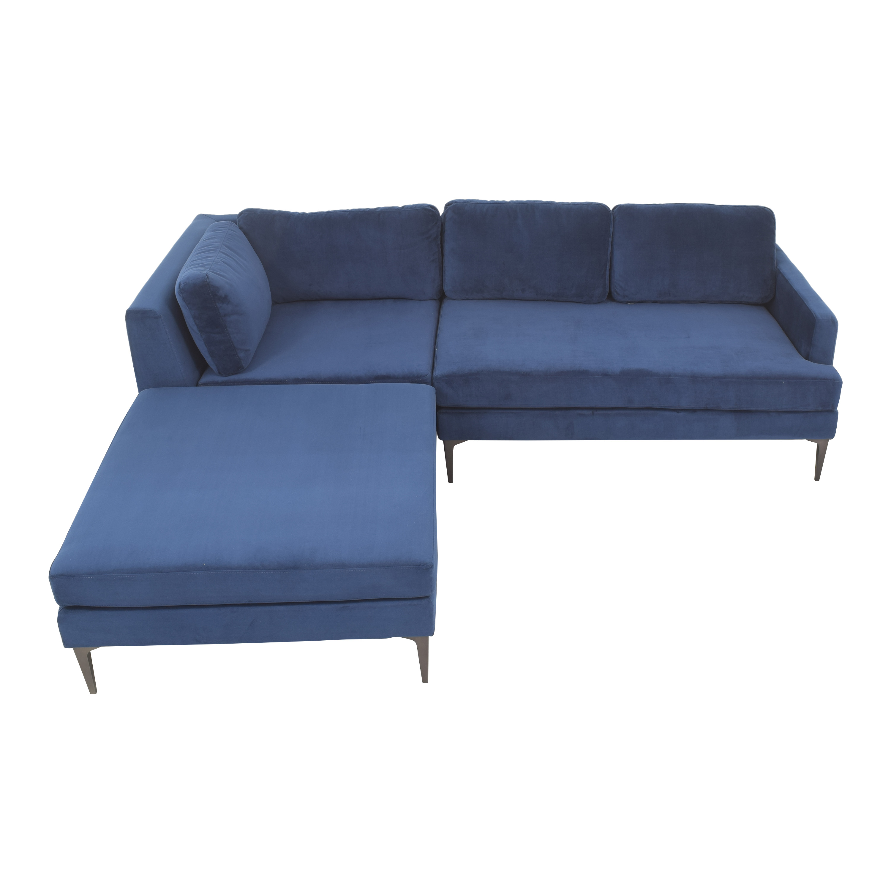 buy West Elm Andes 3-Piece Chaise Sectional West Elm