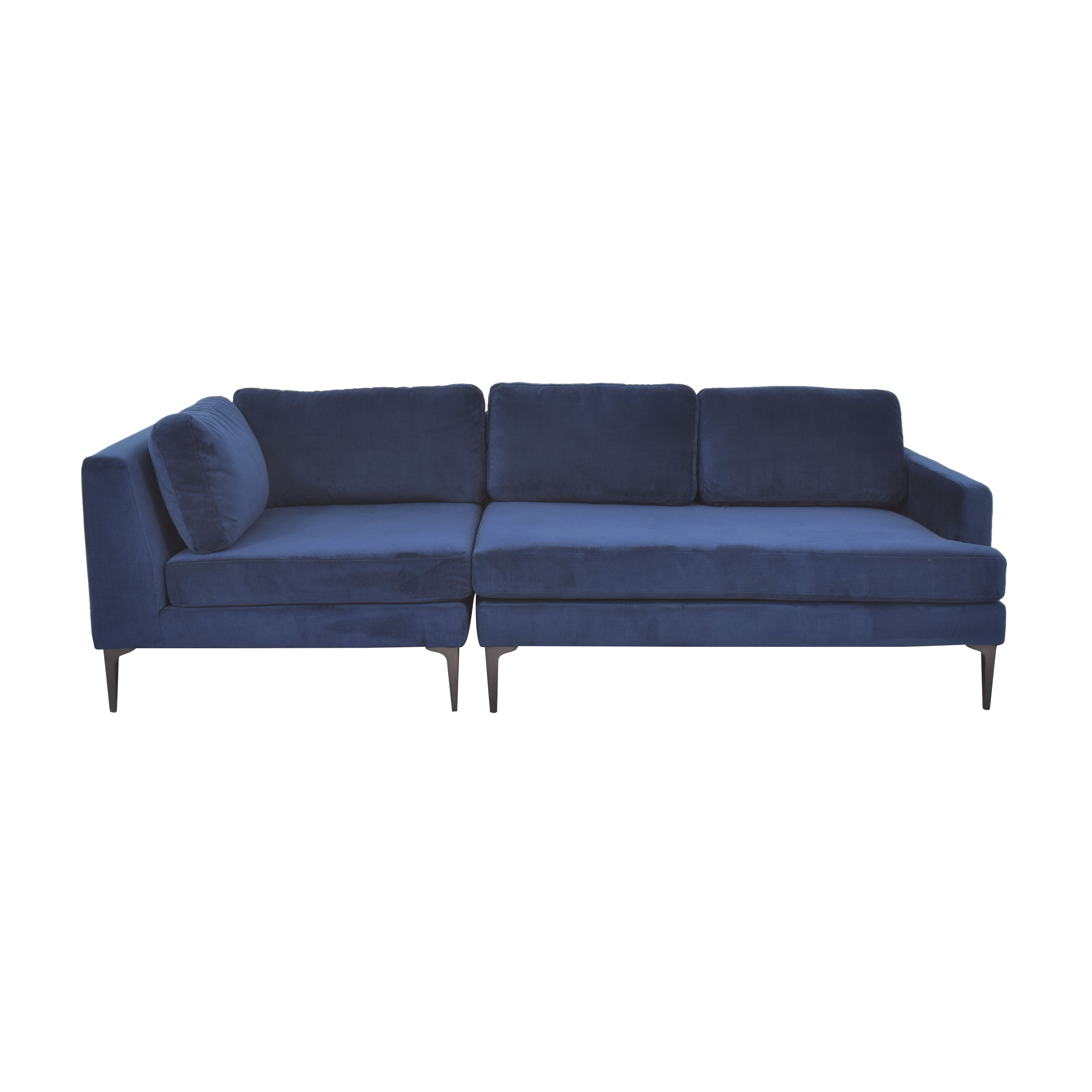 West Elm West Elm Andes 3-Piece Chaise Sectional used