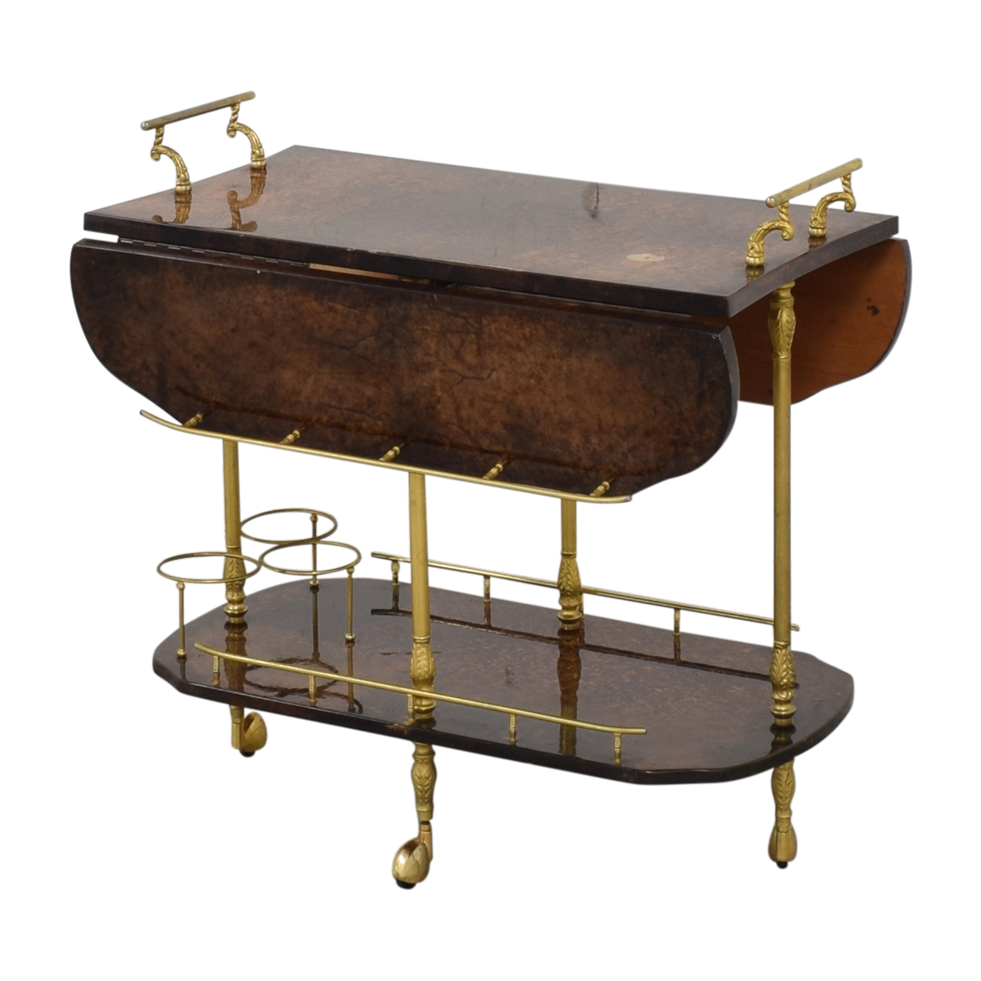 Vintage Italian Rolling Bar Cart discount