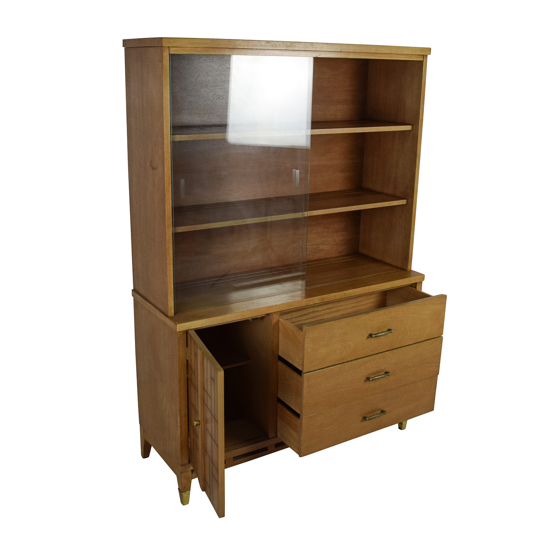 53 Off Tall Vintage Mid Century Style Display Case Storage