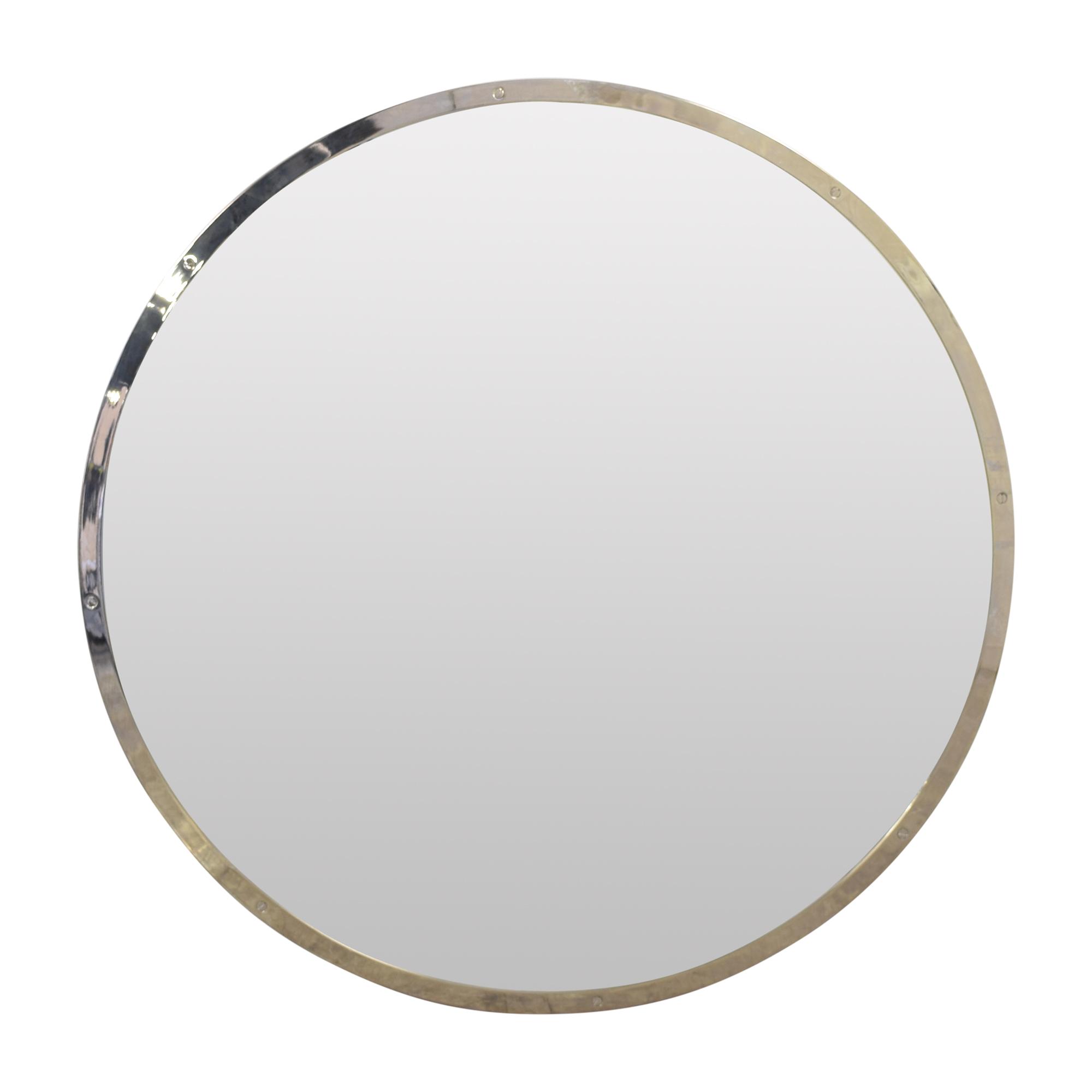 buy Restoration Hardware Bistro Round Mirror Restoration Hardware Mirrors