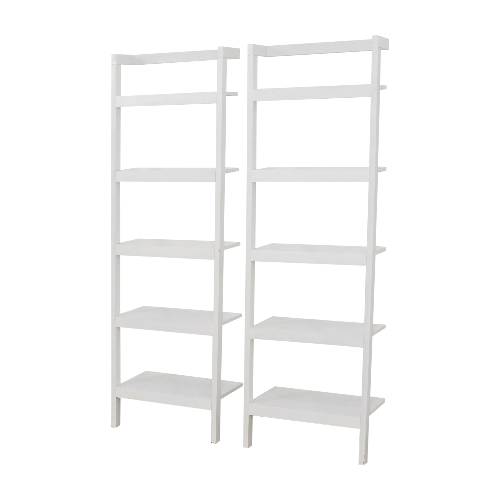 shop Crate & Barrel Leaning Shelves Crate & Barrel Storage