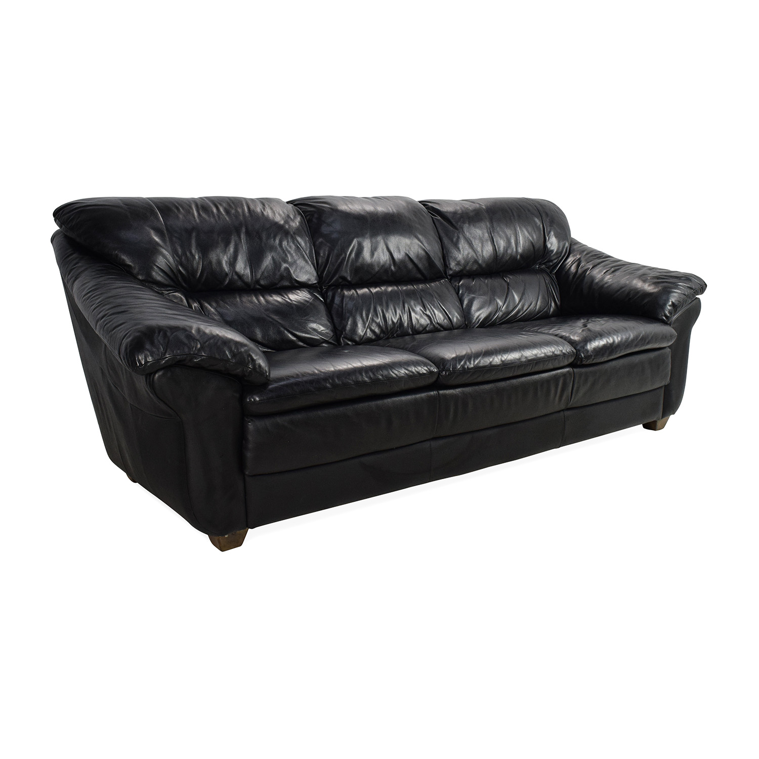 79 off natuzzi natuzzi italian black leather sofa sofas for Italian leather sofa