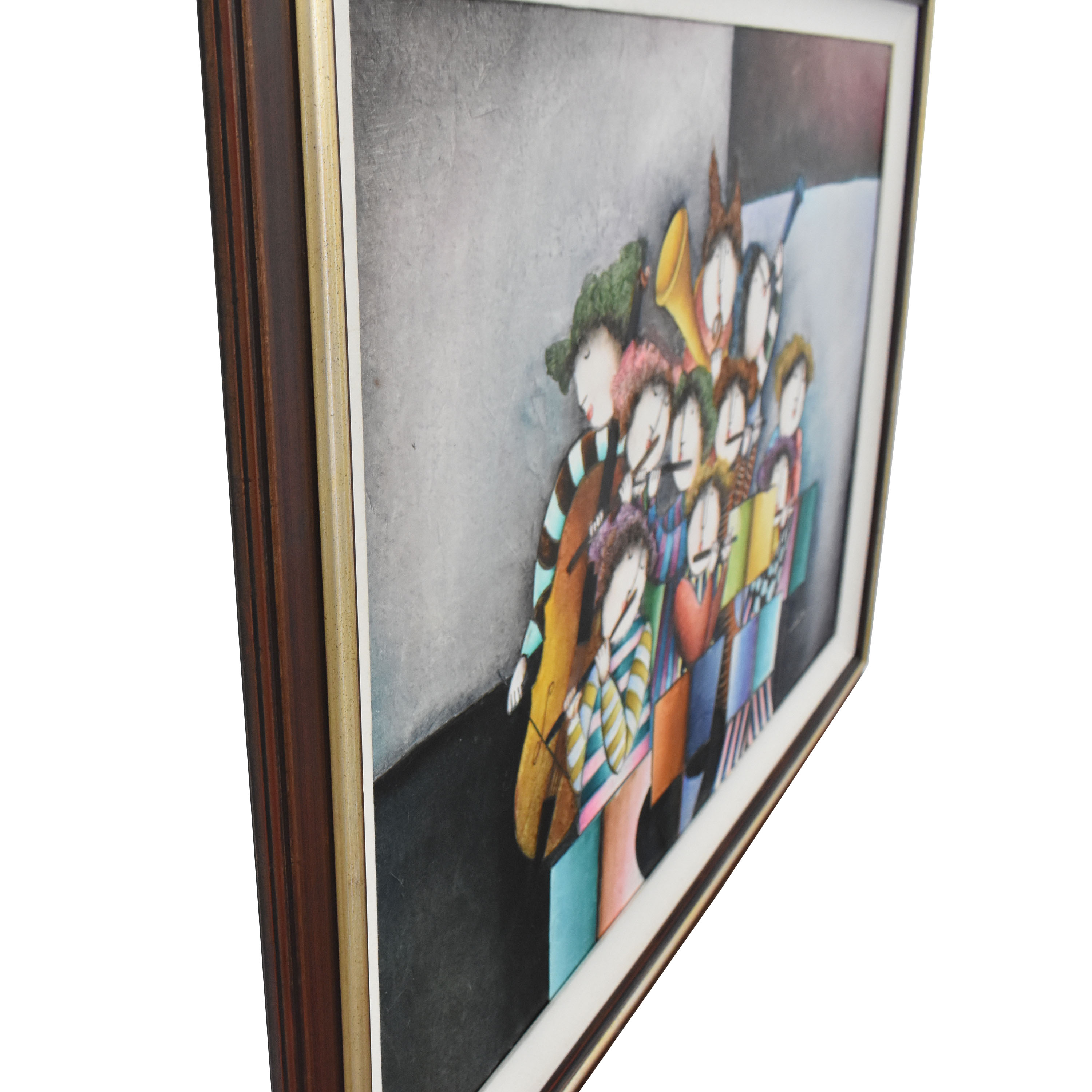 buy Musical Musicians Playing Instruments Framed Wall Art