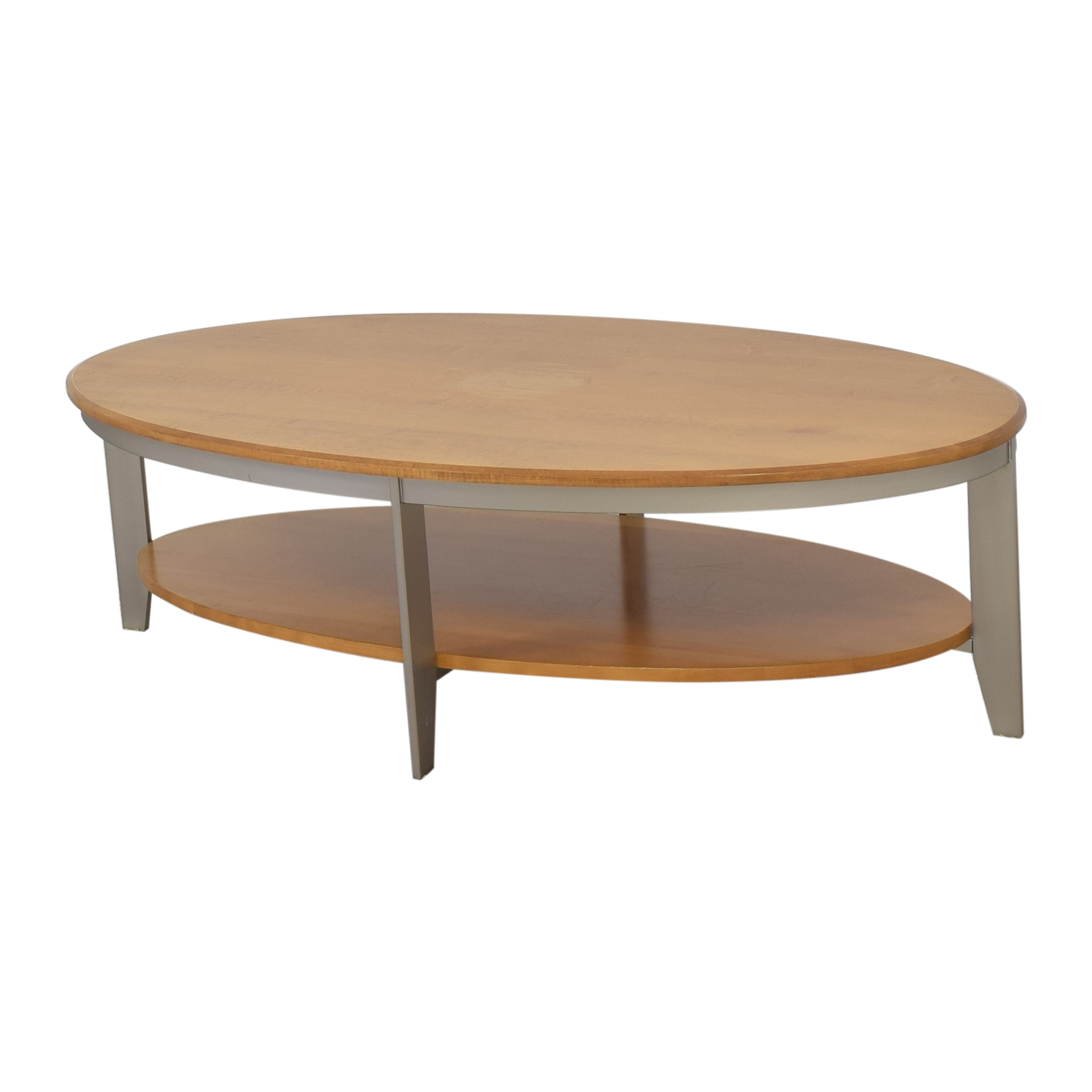 Oval Coffee Table with Shelf ct