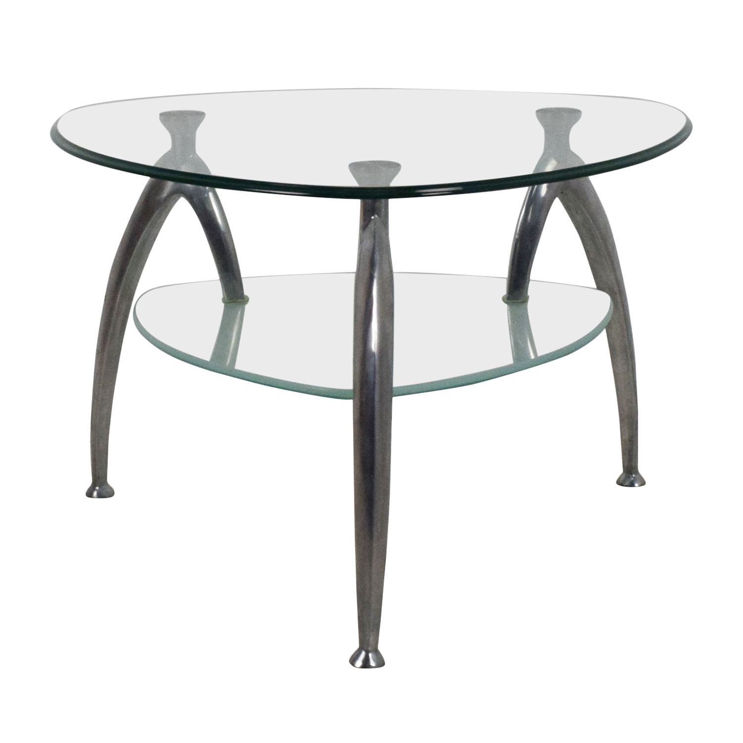 64 Off Geometric Glass Top Coffee Table Tables