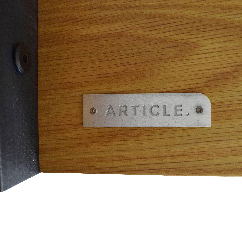 Article Article Rustic Oak Madera Desk on sale