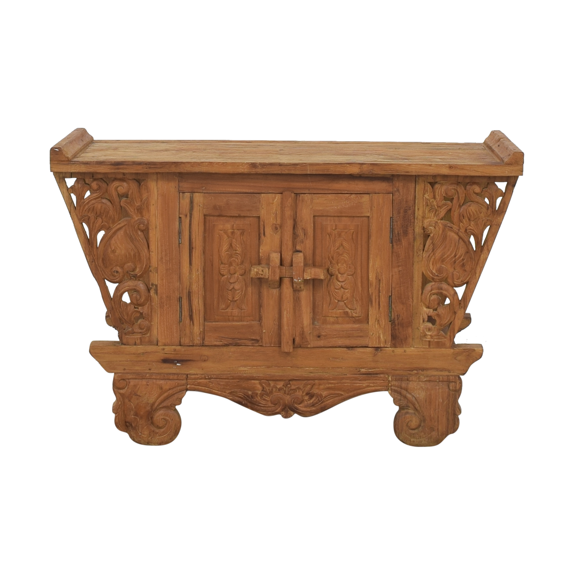 Rustic Carved Console sale