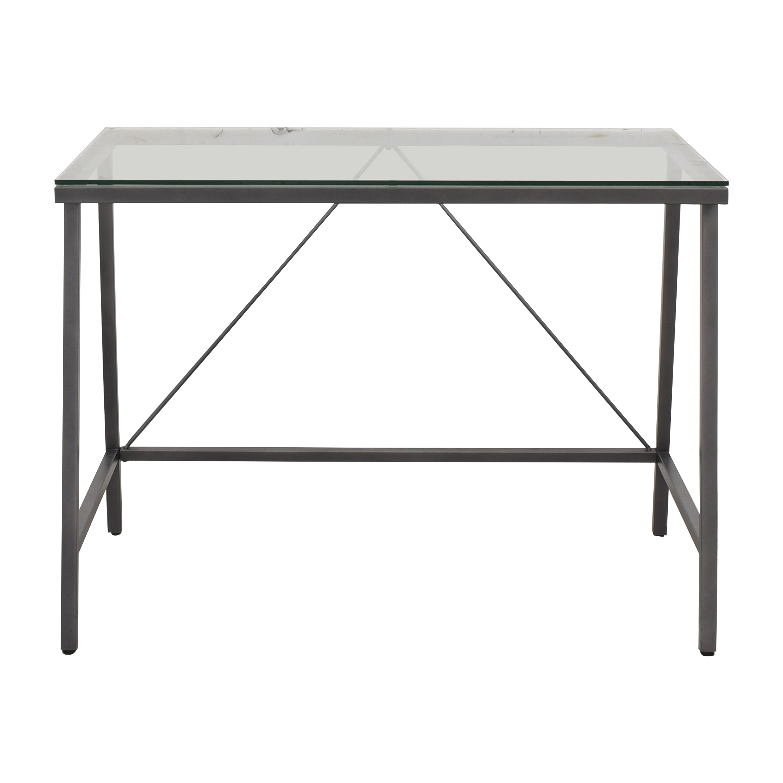 Modern Glass Top Desk Tables