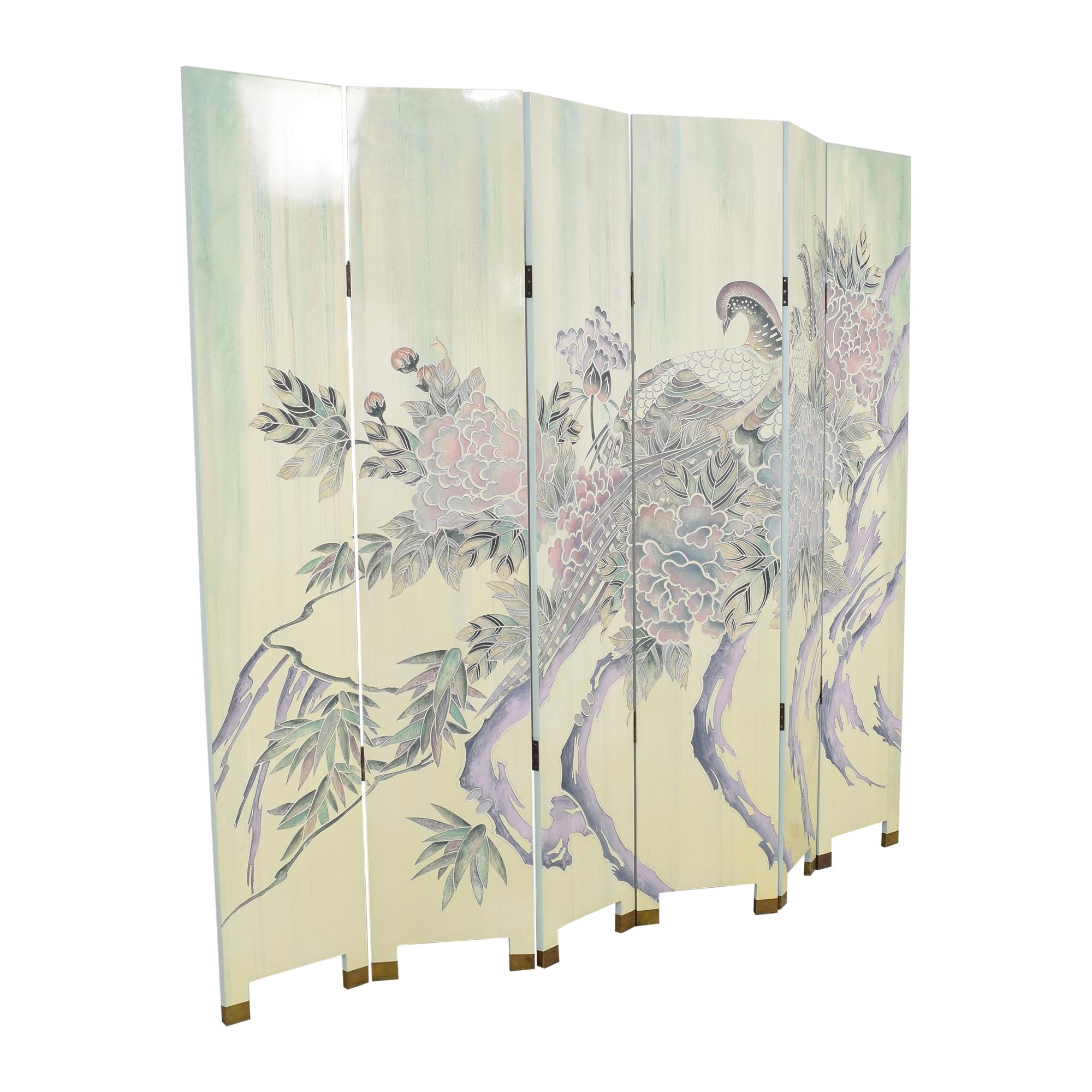 Decorative Six Panel Room Screen / Dividers