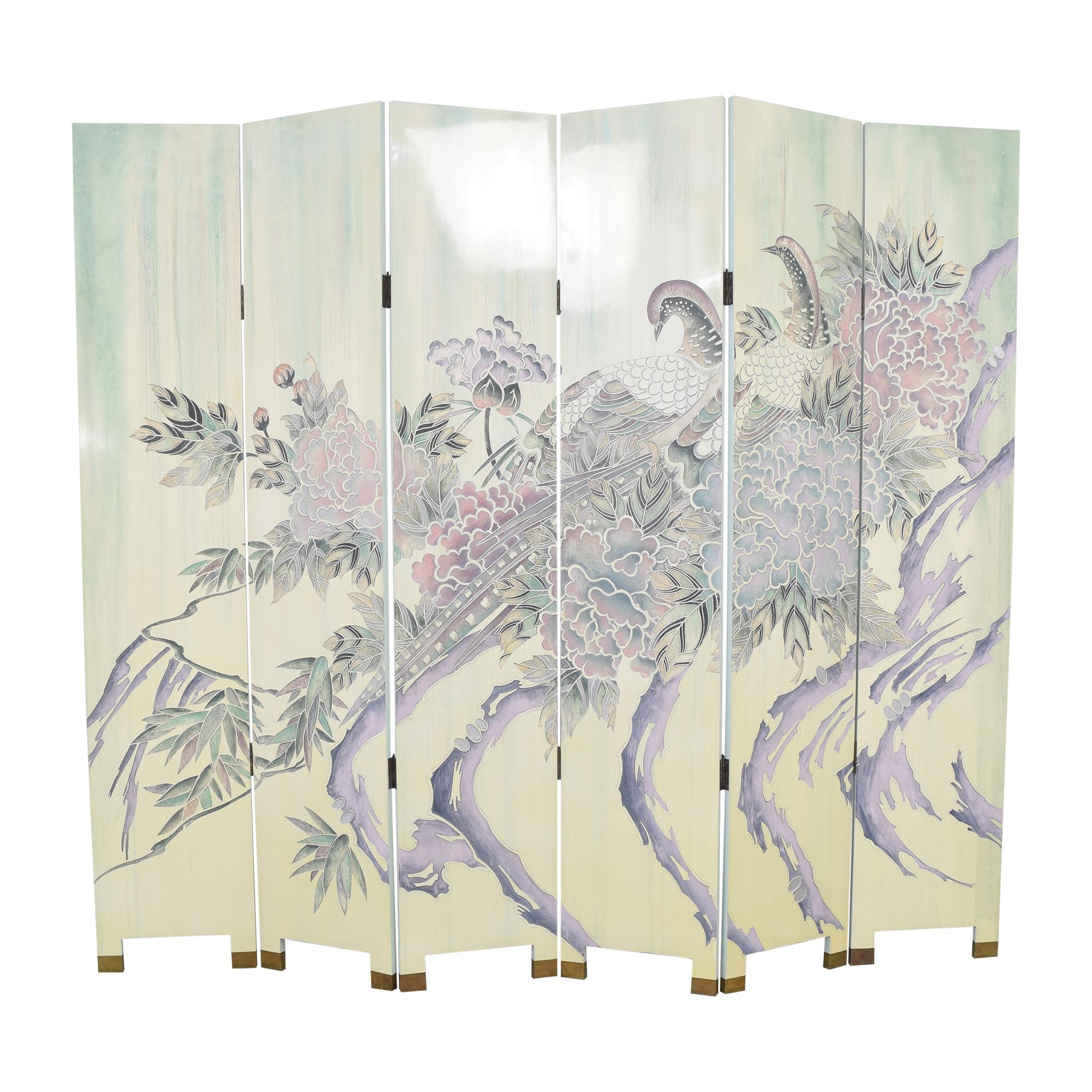 shop Decorative Six Panel Room Screen  Decor
