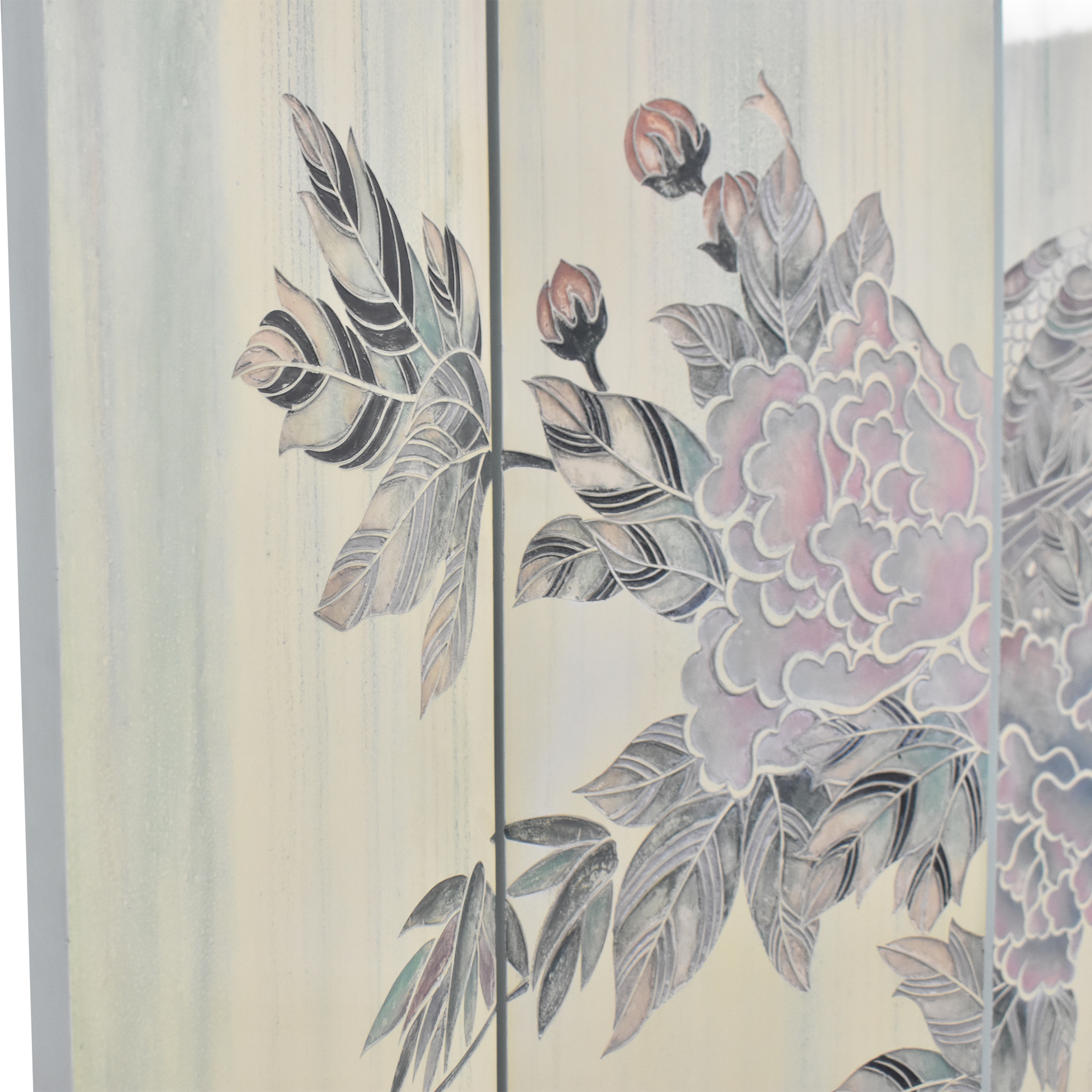 Decorative Six Panel Room Screen second hand