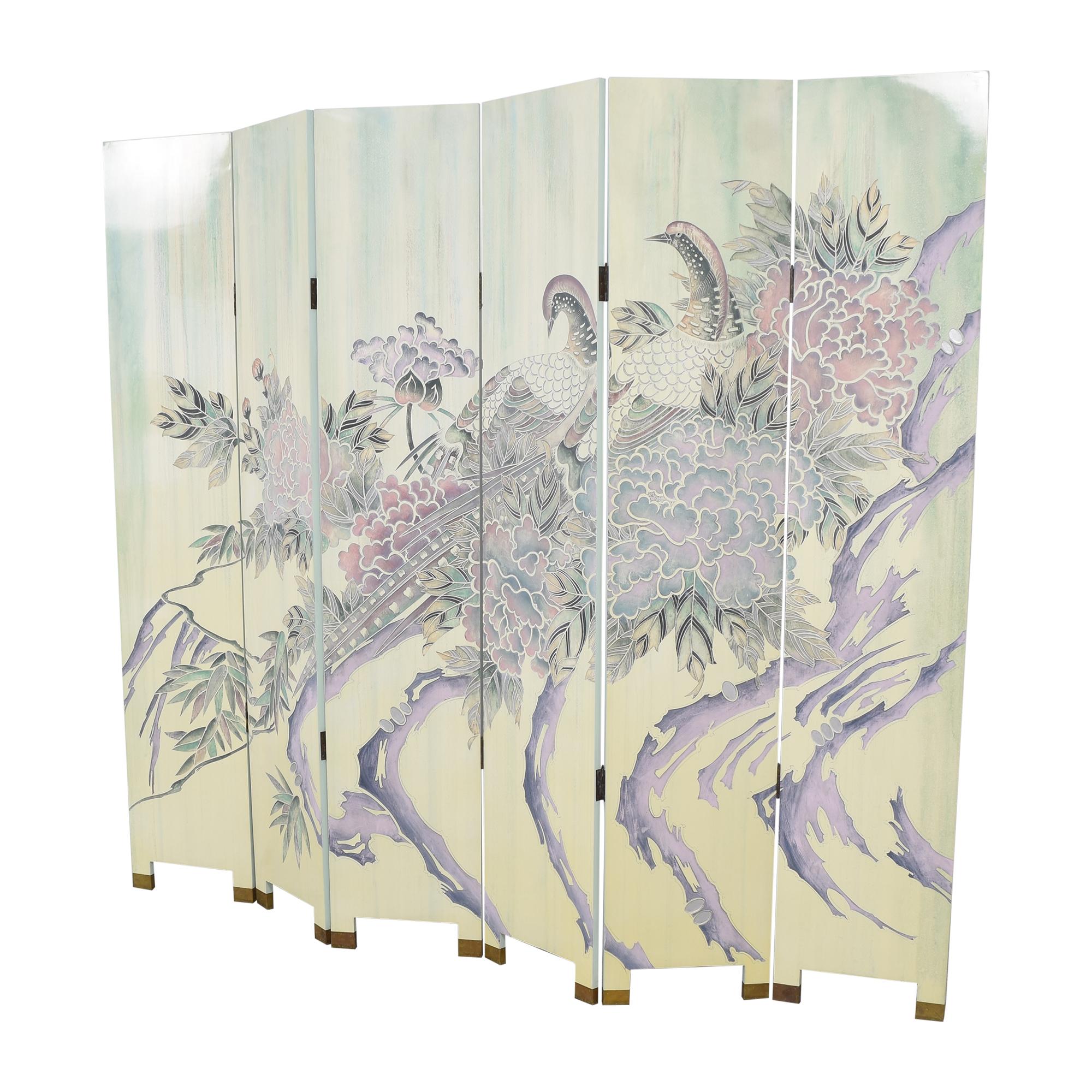 Decorative Six Panel Room Screen / Decor