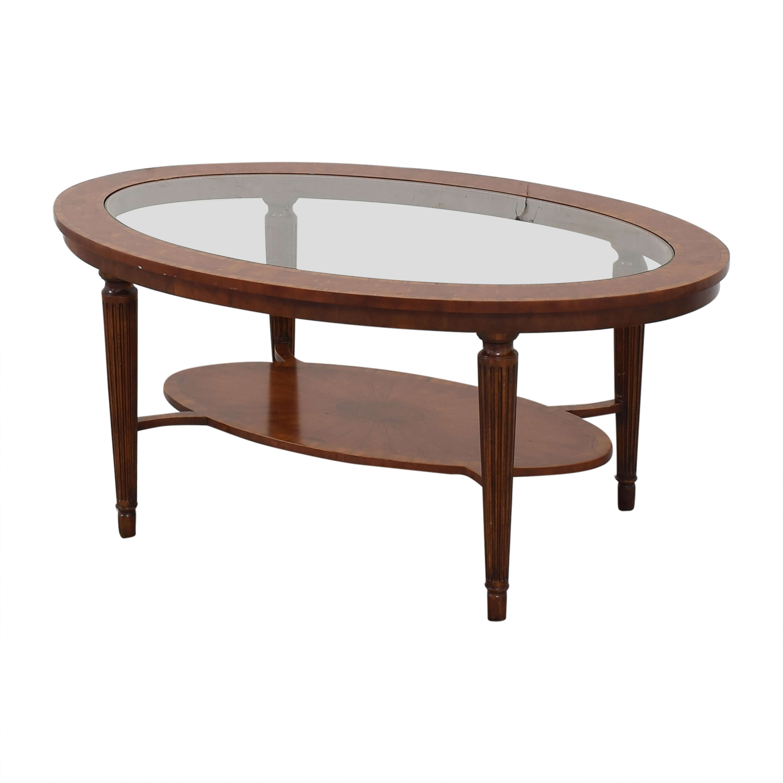 Maitland-Smith Maitland-Smith Oval Coffee Table ct