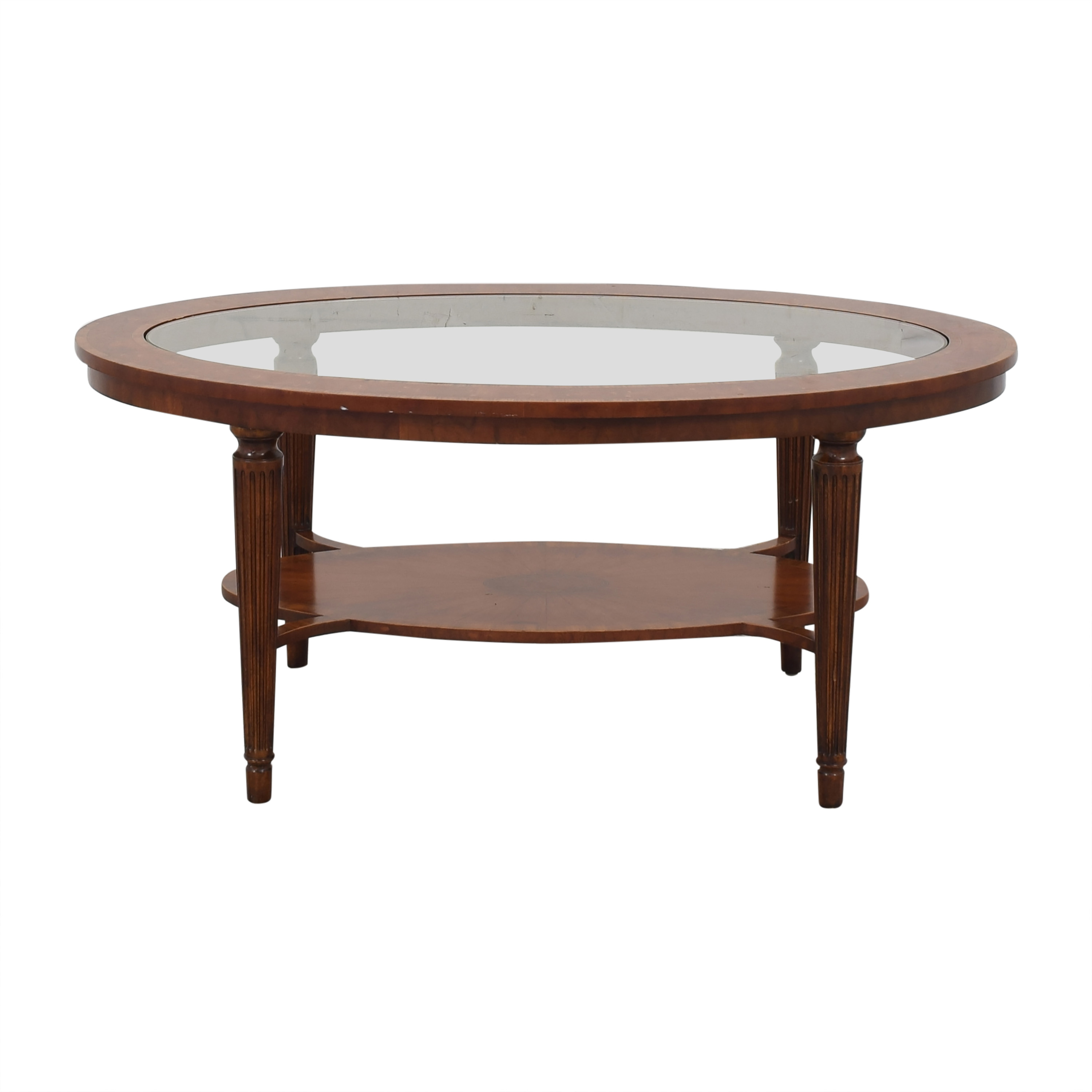 Maitland-Smith Oval Coffee Table sale