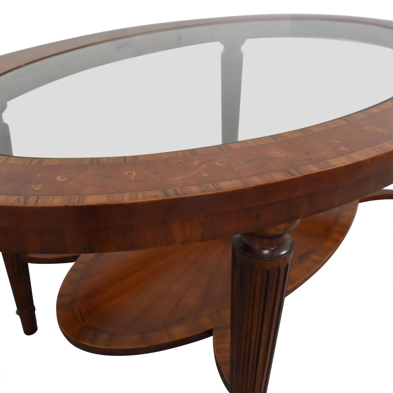 Maitland-Smith Oval Coffee Table sale