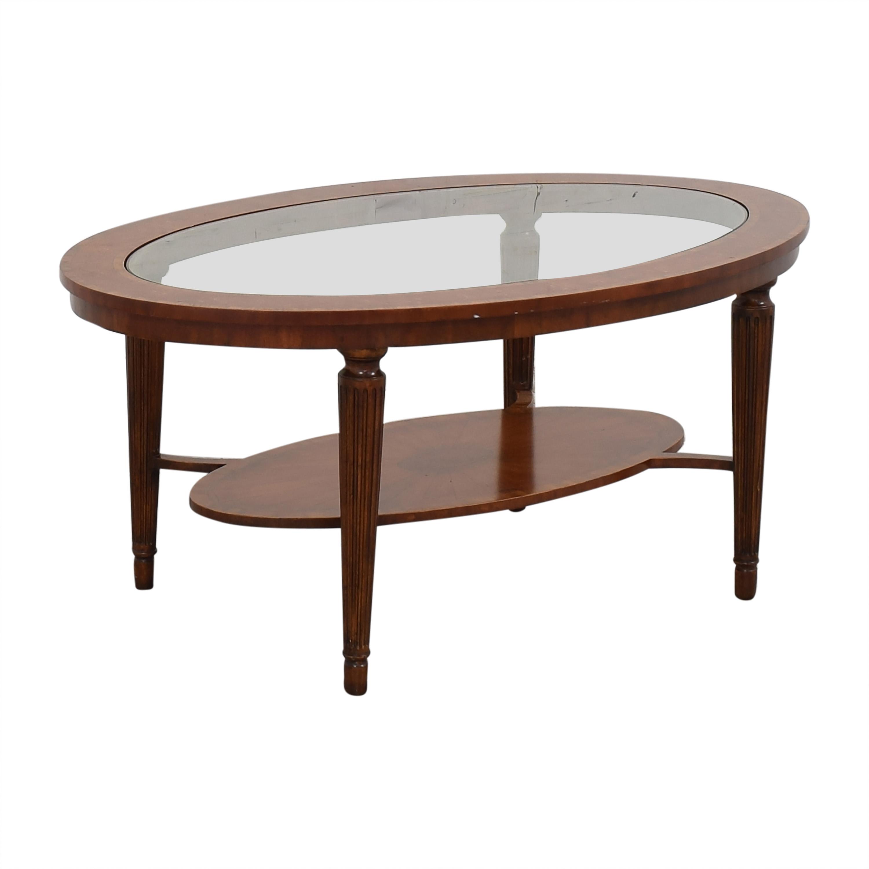 Maitland-Smith Maitland-Smith Oval Coffee Table