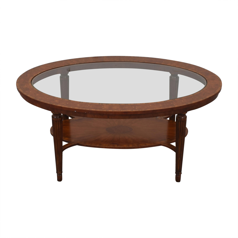 Maitland-Smith Maitland-Smith Oval Coffee Table on sale