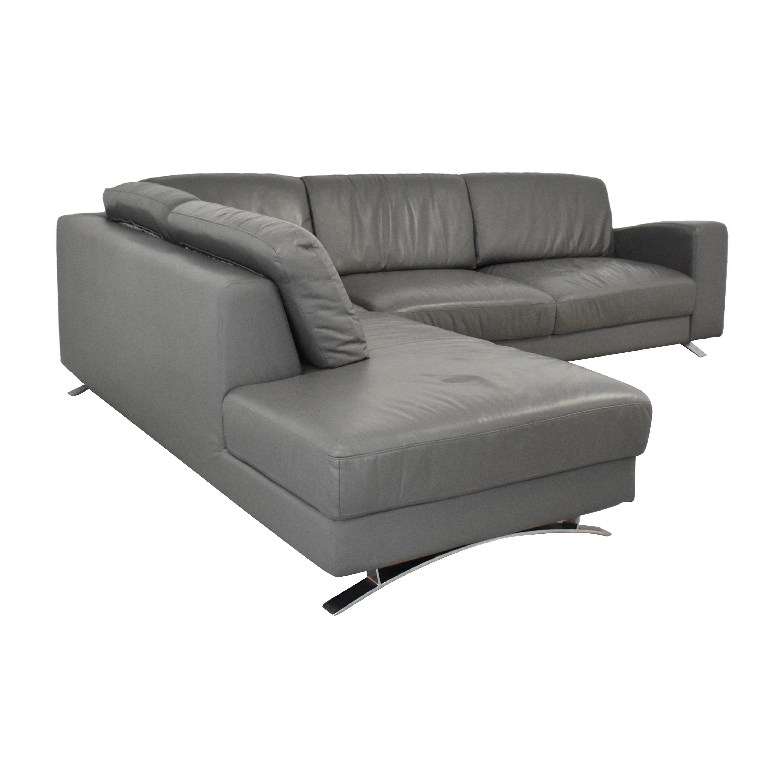 shop VIG Chaise Sectional Sofa VIG