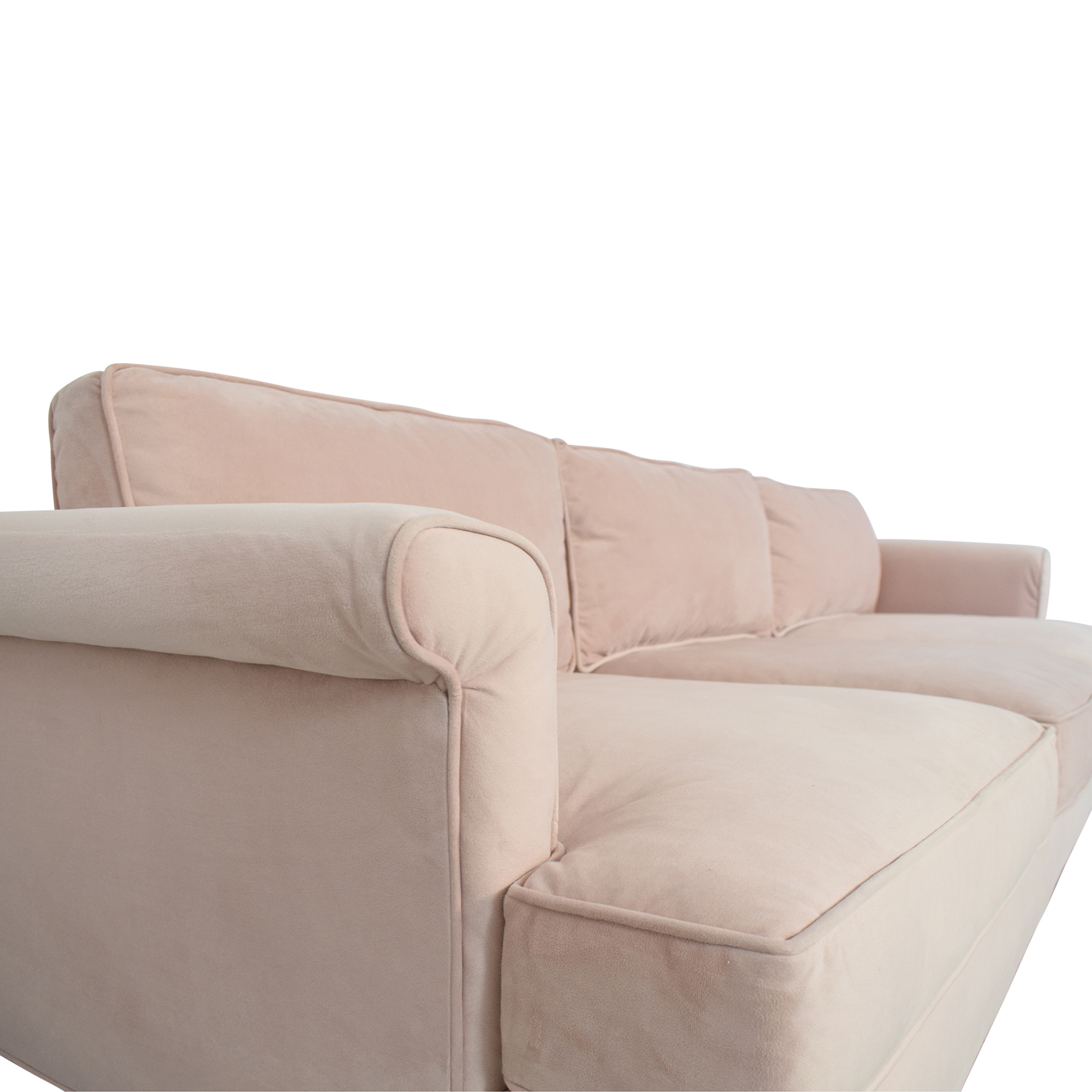 The Inside The Inside Blush Three Cushion Sofa pink