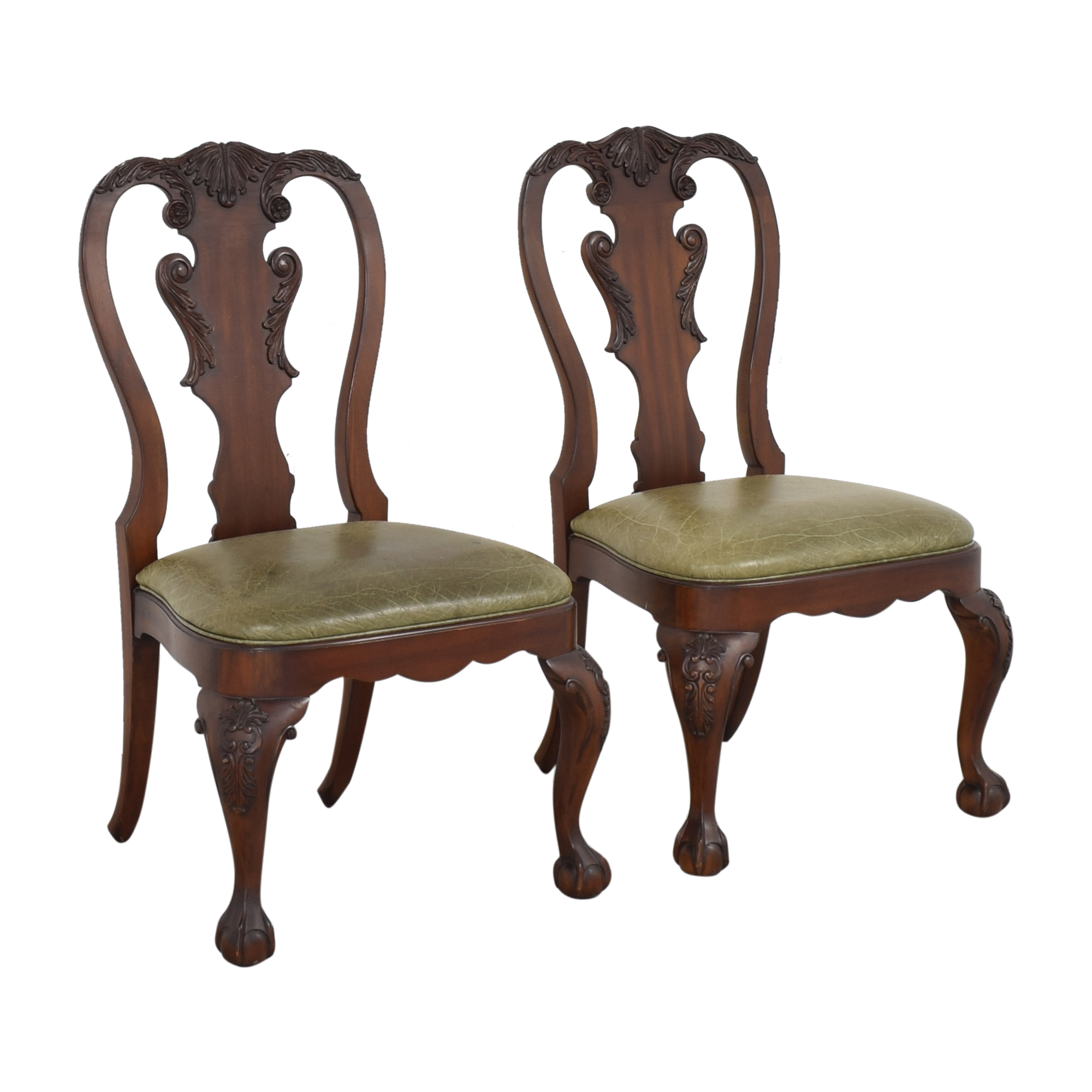 Ethan Allen Ethan Allen Queen Anne Side Dining Chairs pa