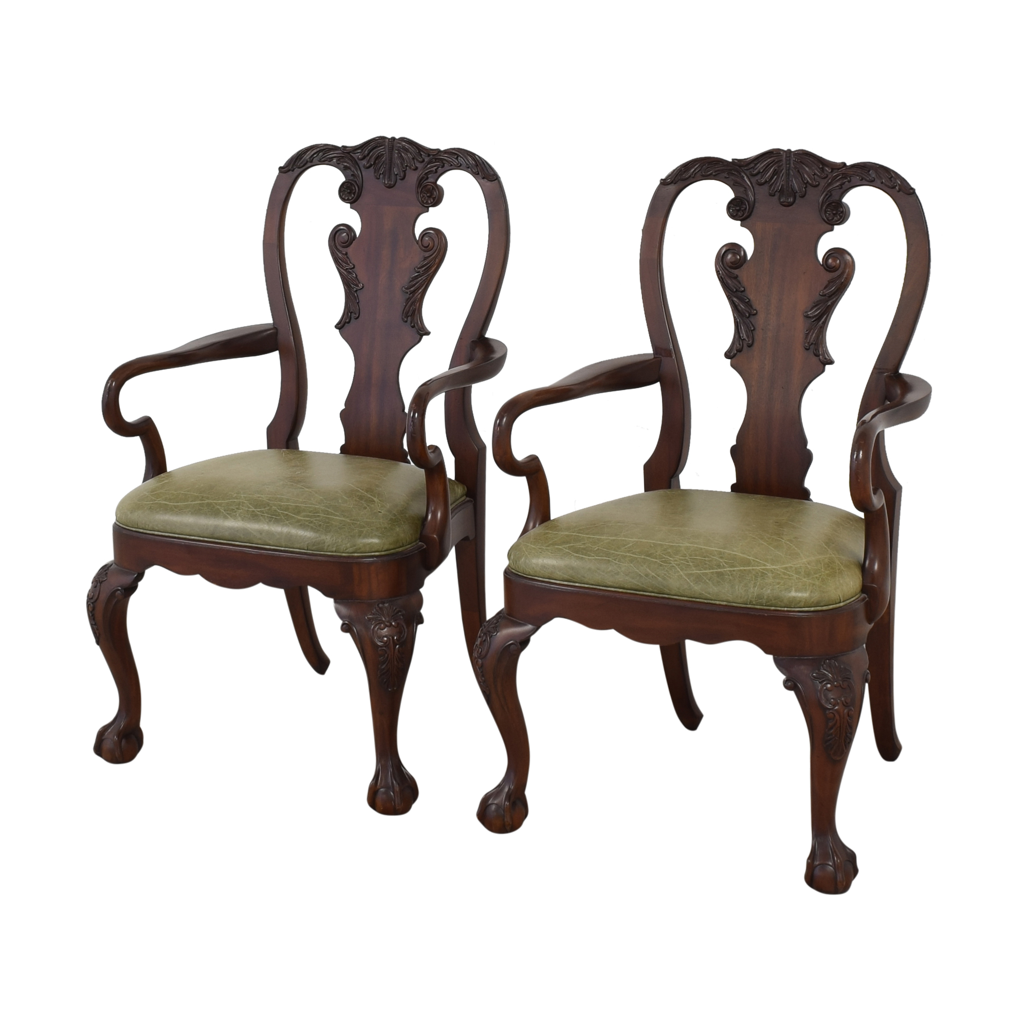 buy Ethan Allen Queen Anne Dining Arm Chairs Ethan Allen Dining Chairs