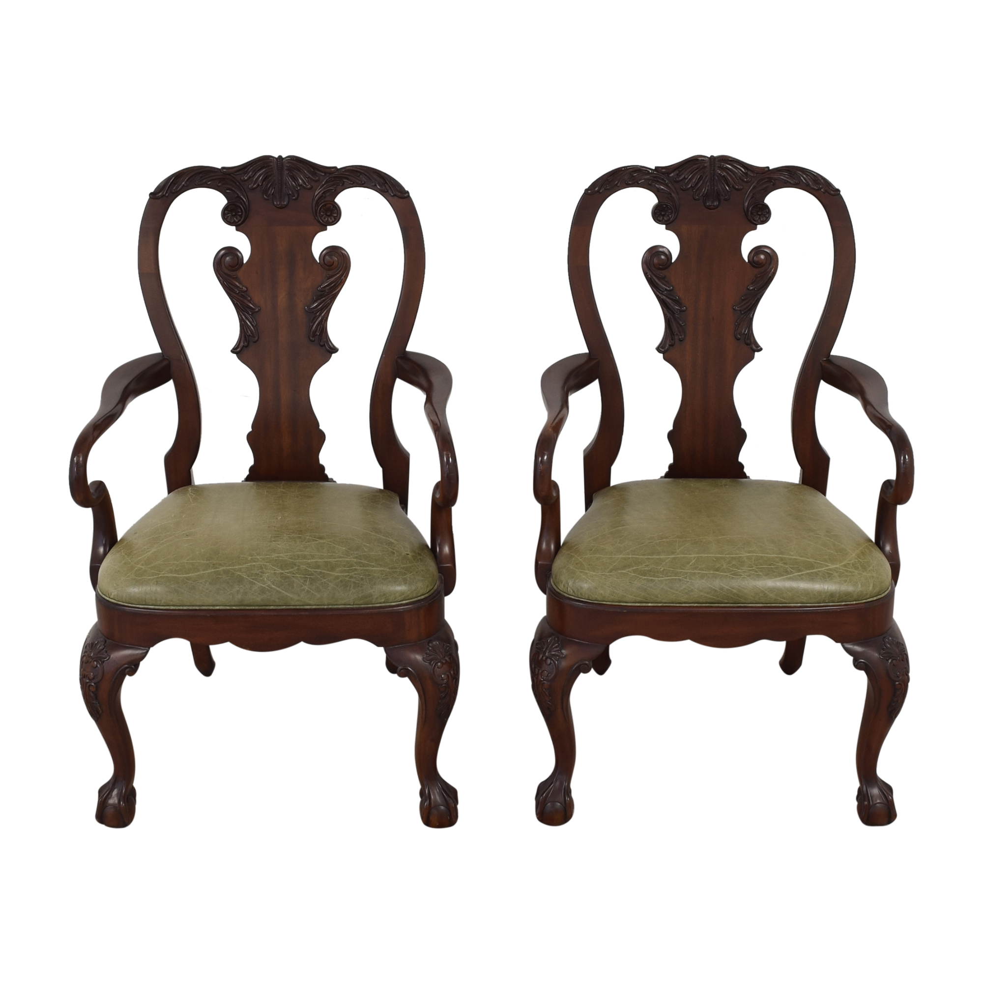 buy Ethan Allen Queen Anne Dining Arm Chairs Ethan Allen Chairs