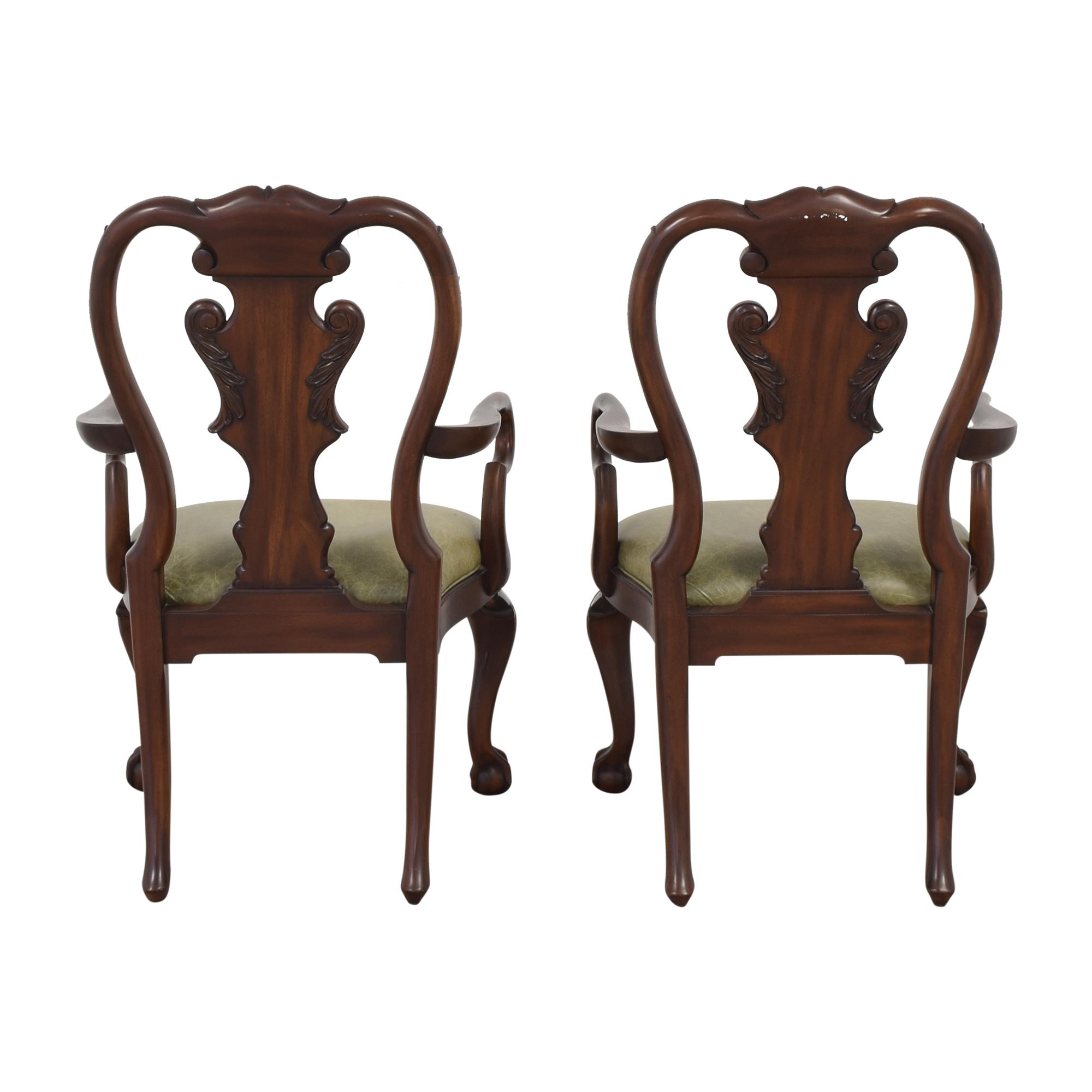 Ethan Allen Queen Anne Dining Arm Chairs sale