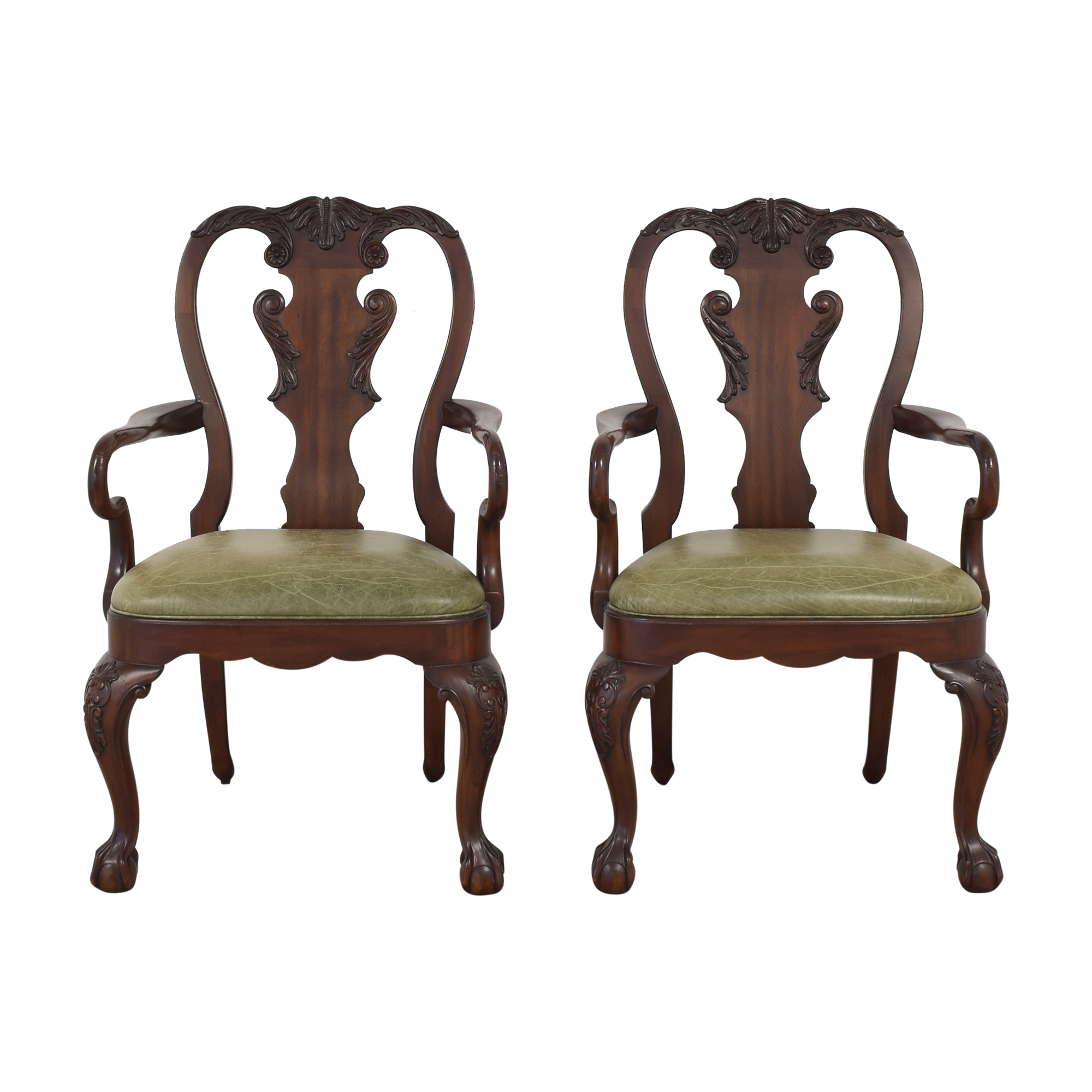 Ethan Allen Ethan Allen Queen Anne Dining Arm Chairs nj
