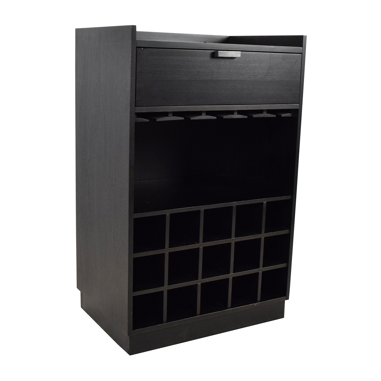 buy Crate & Barrel Skyler Java Rolling Bar Cart Crate and Barrel Tables