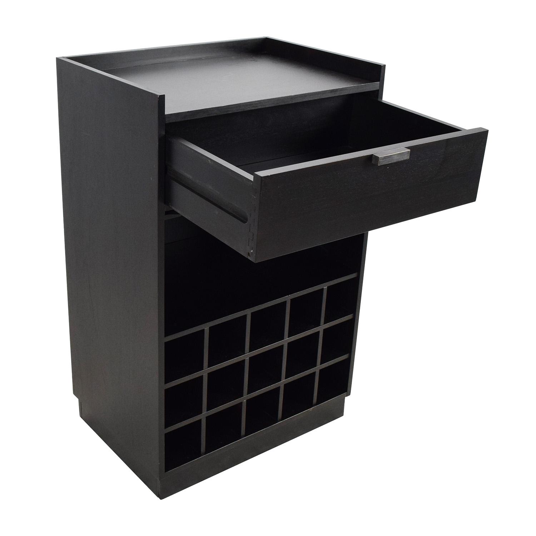 shop Crate & Barrel Skyler Java Rolling Bar Cart Crate and Barrel