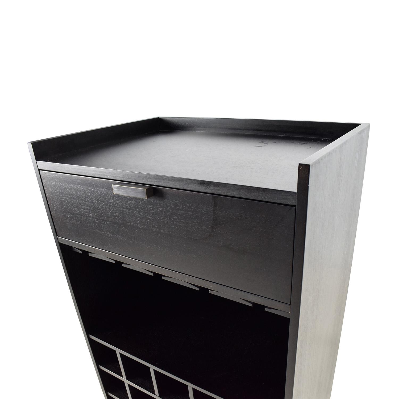 buy Crate & Barrel Skyler Java Rolling Bar Cart Crate and Barrel
