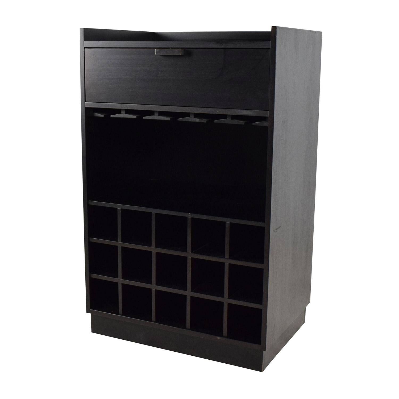 Crate & Barrel Skyler Java Rolling Bar Cart / End Tables