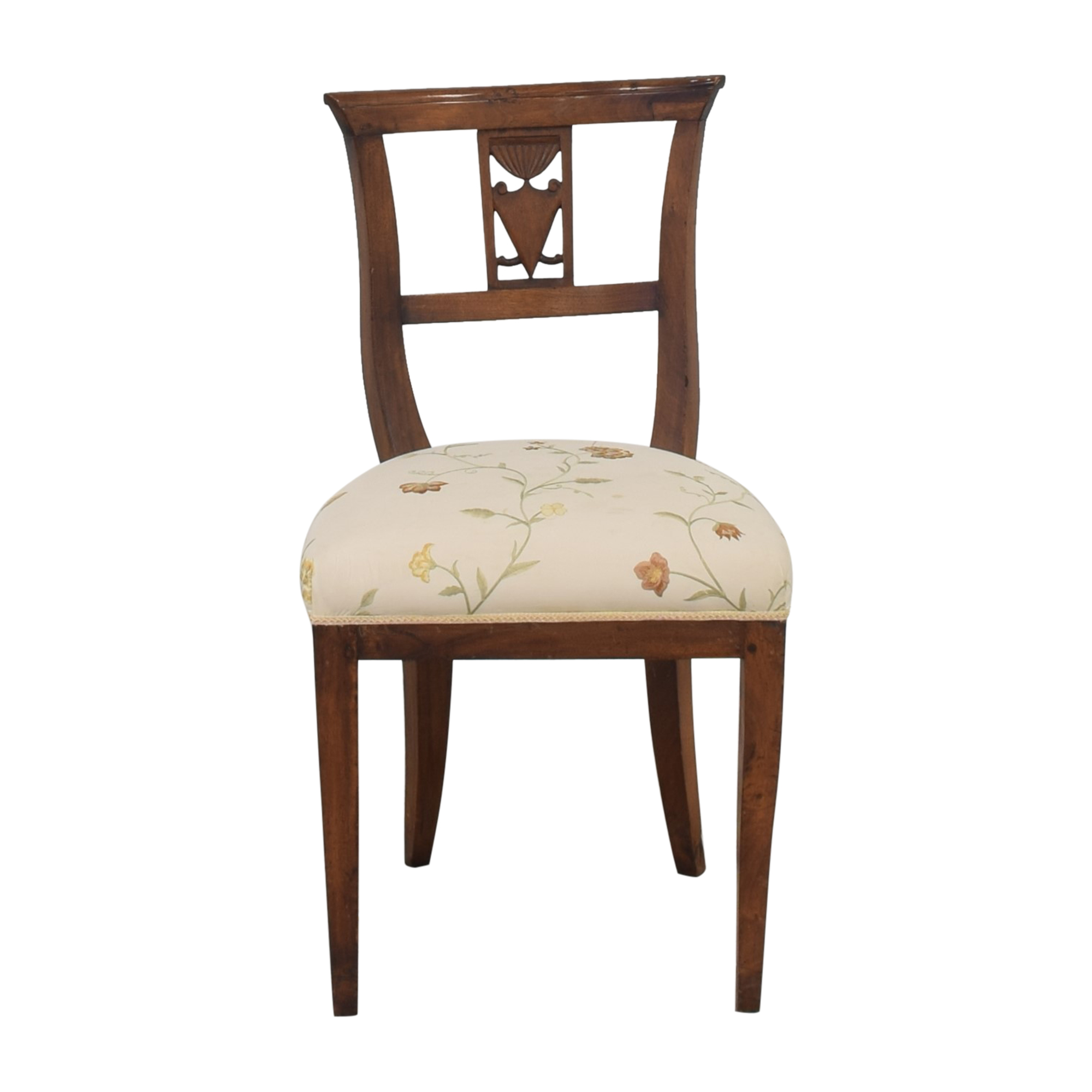 Vintage Upholstered Chair with Carving nyc