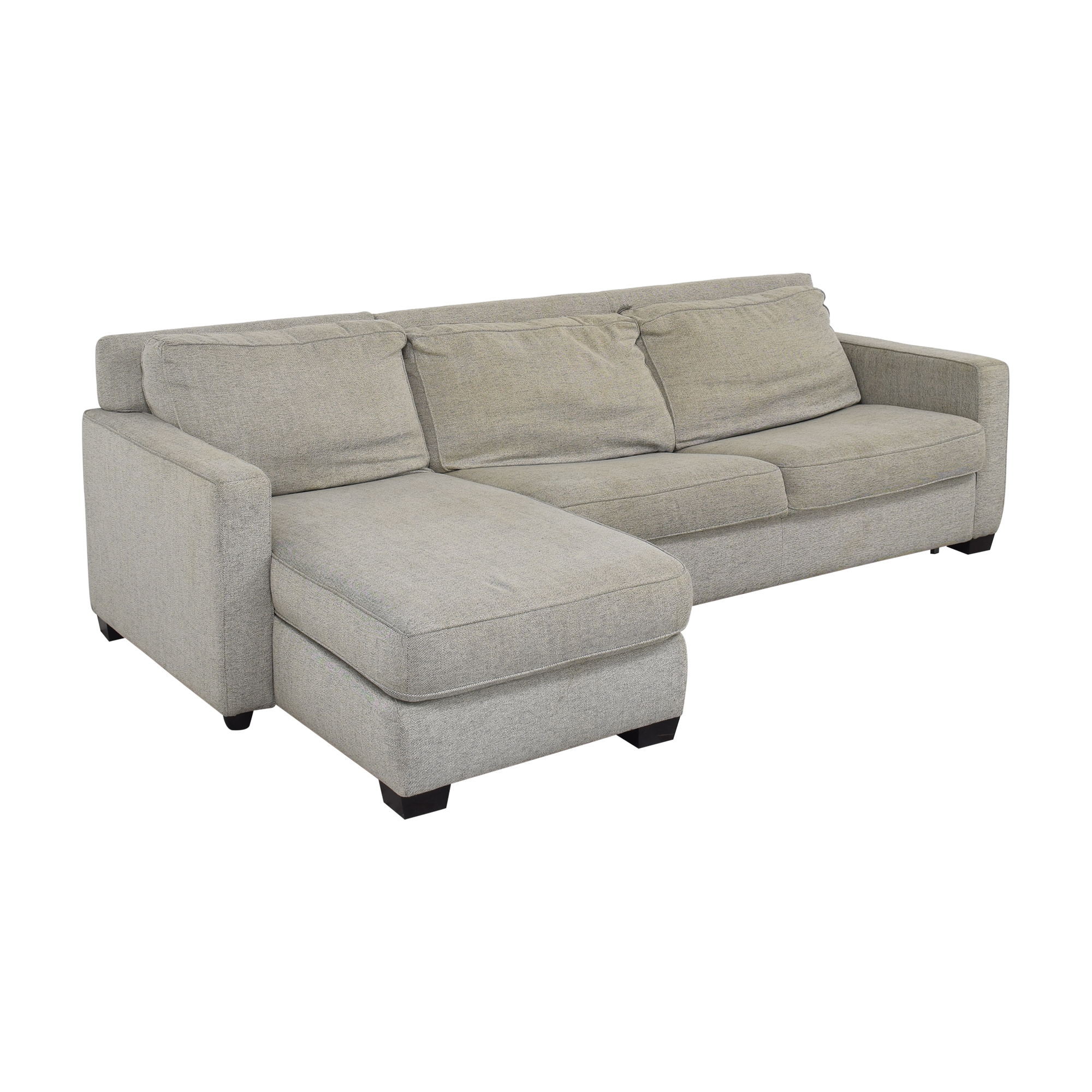 West Elm West Elm Henry 2-Piece Full Sleeper Sectional with Storage ct