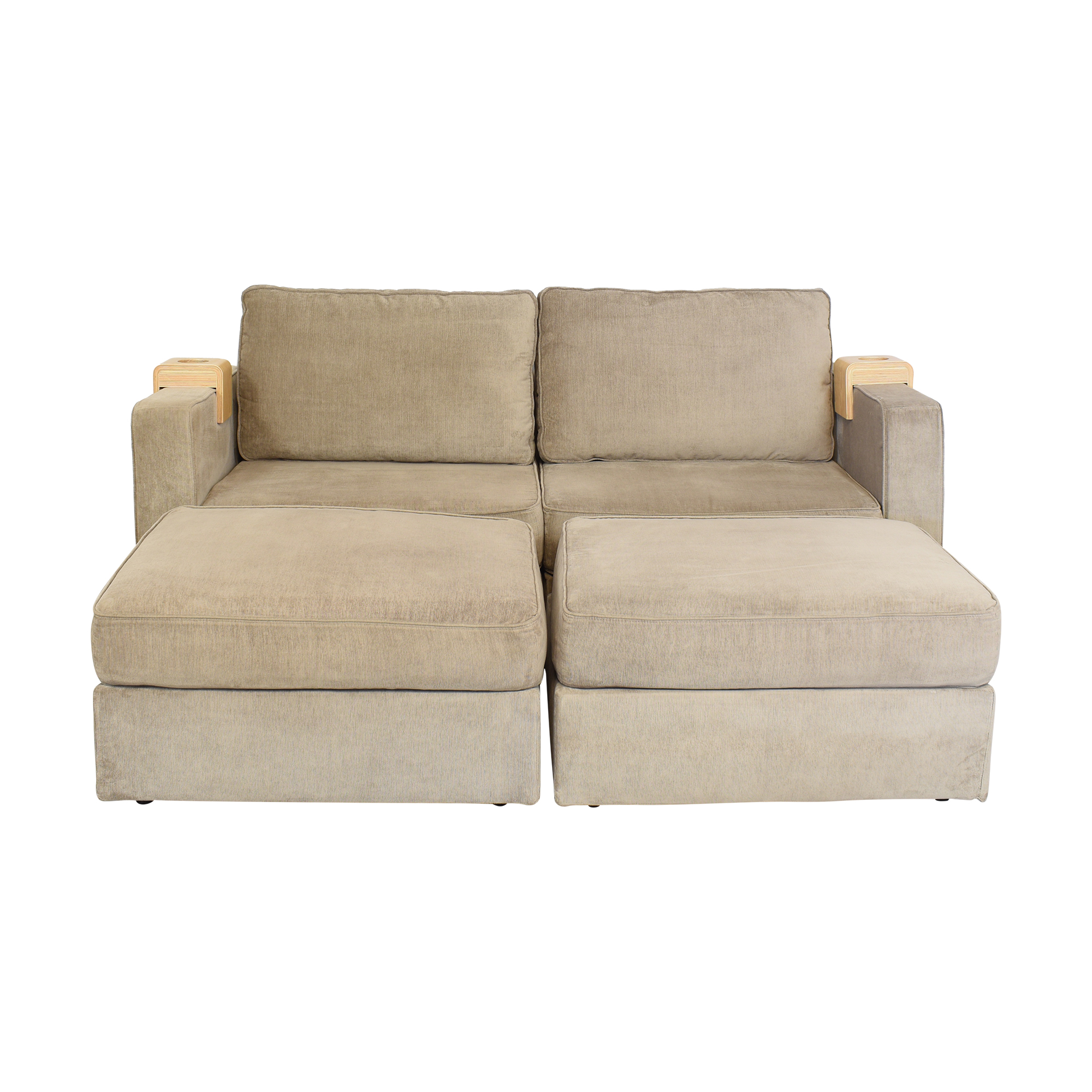Lovesac Lovesac Sactional Sofa with Ottomans and Coasters Sofas