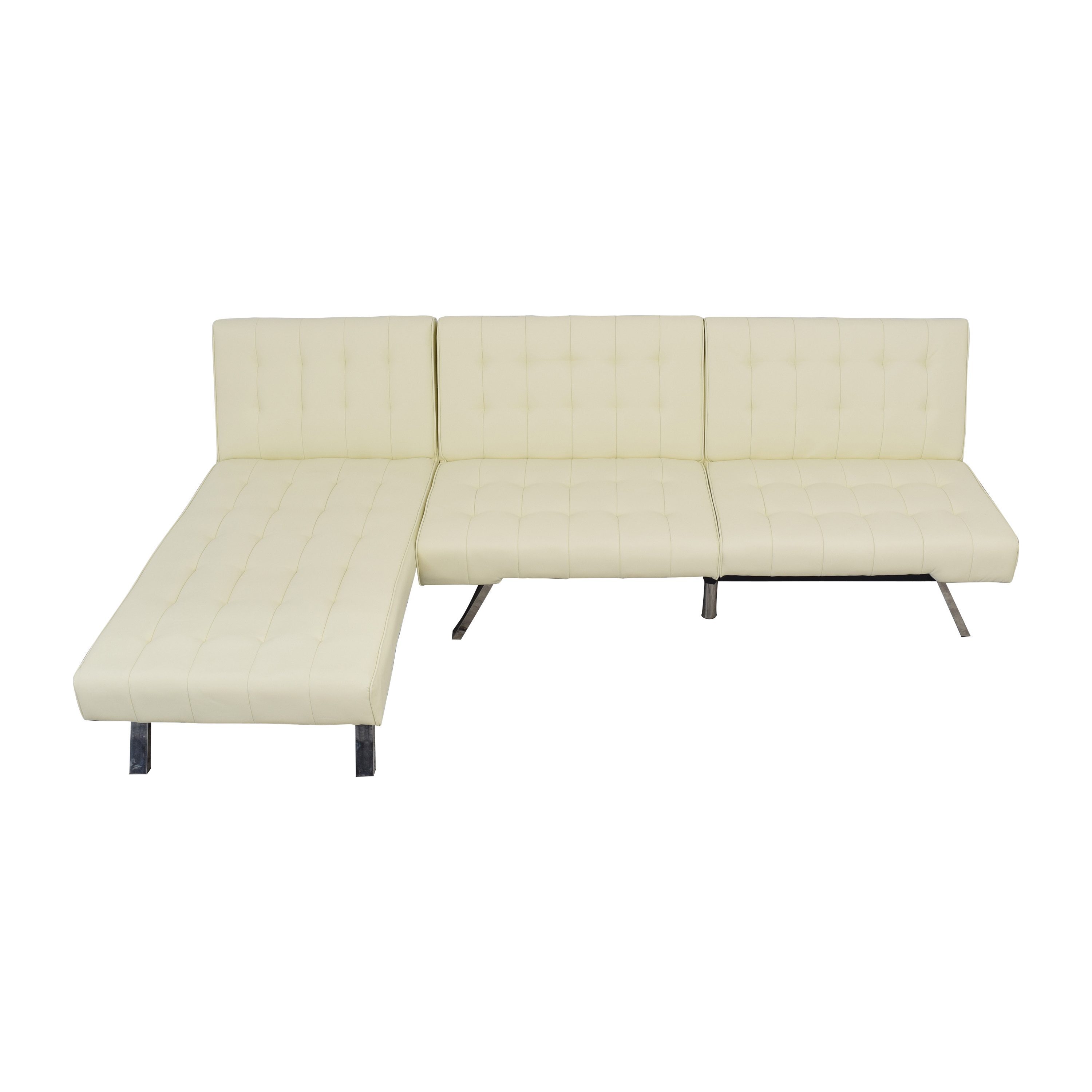 buy DHP Emily Sectional Futon Sofa with Chaise DHP Sectionals