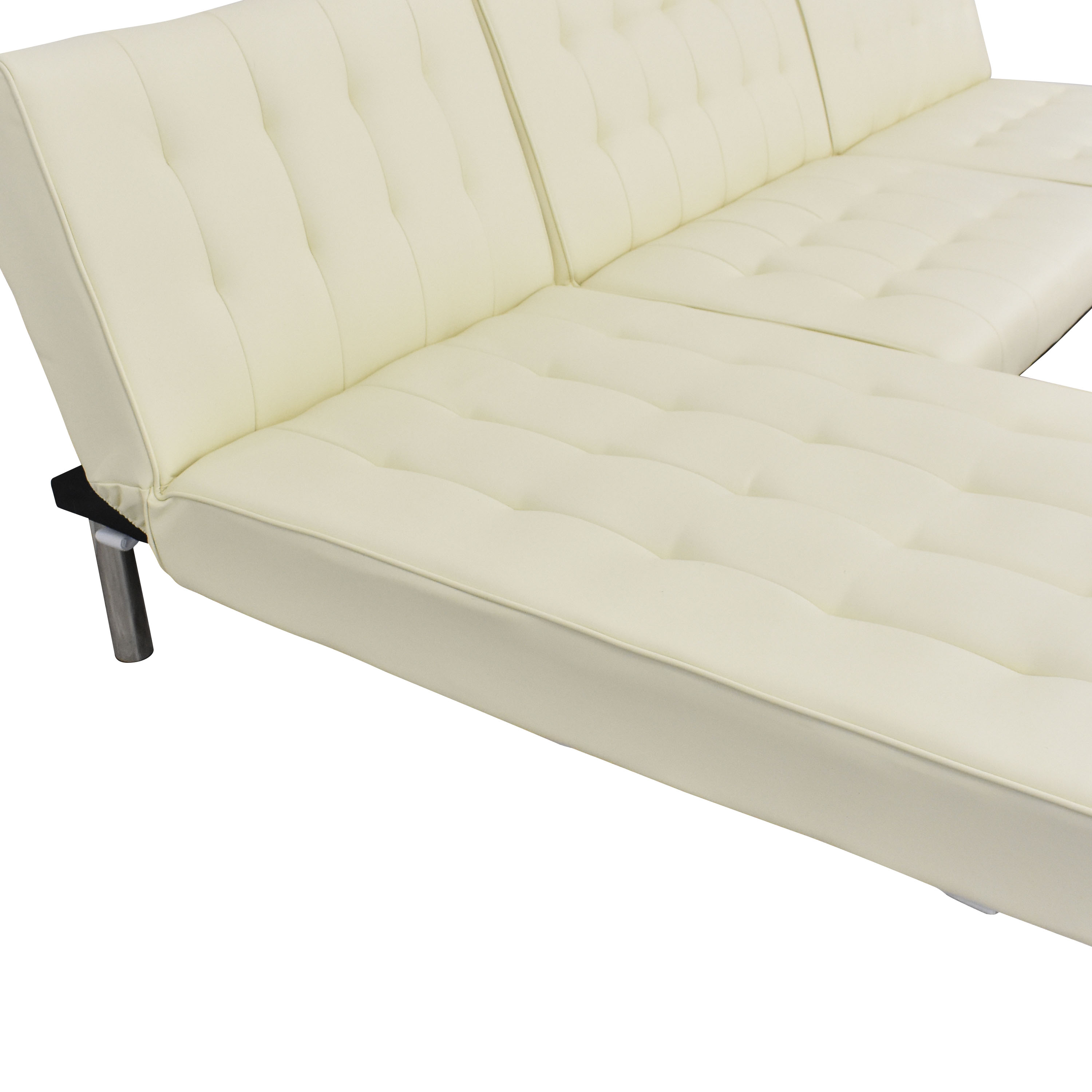 DHP DHP Emily Sectional Futon Sofa with Chaise on sale
