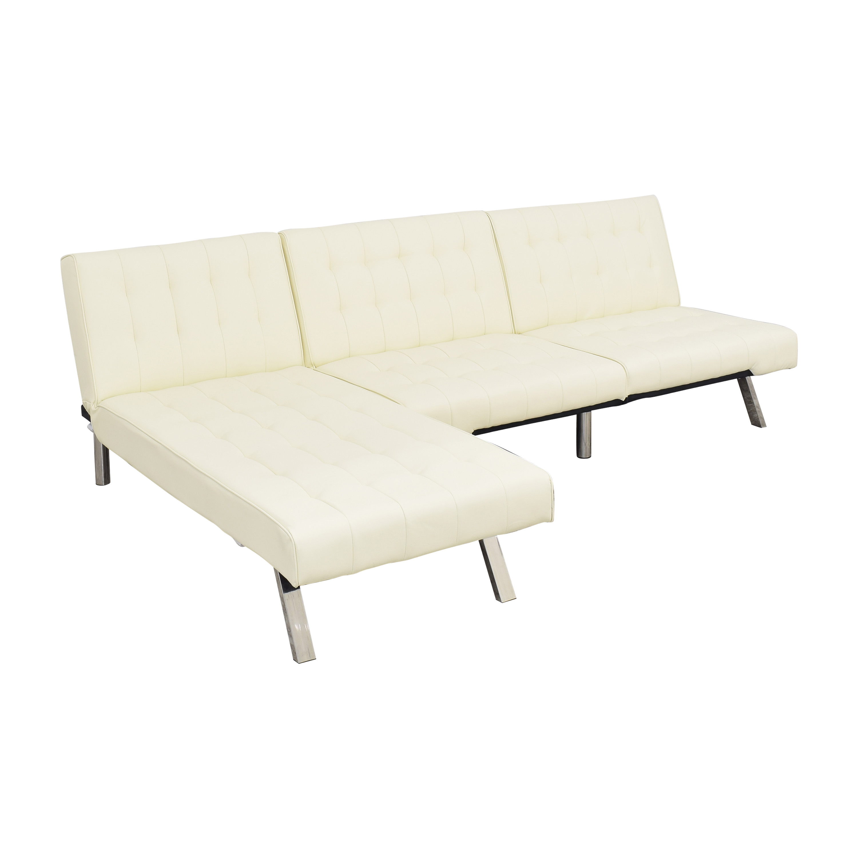 DHP DHP Emily Sectional Futon Sofa with Chaise discount