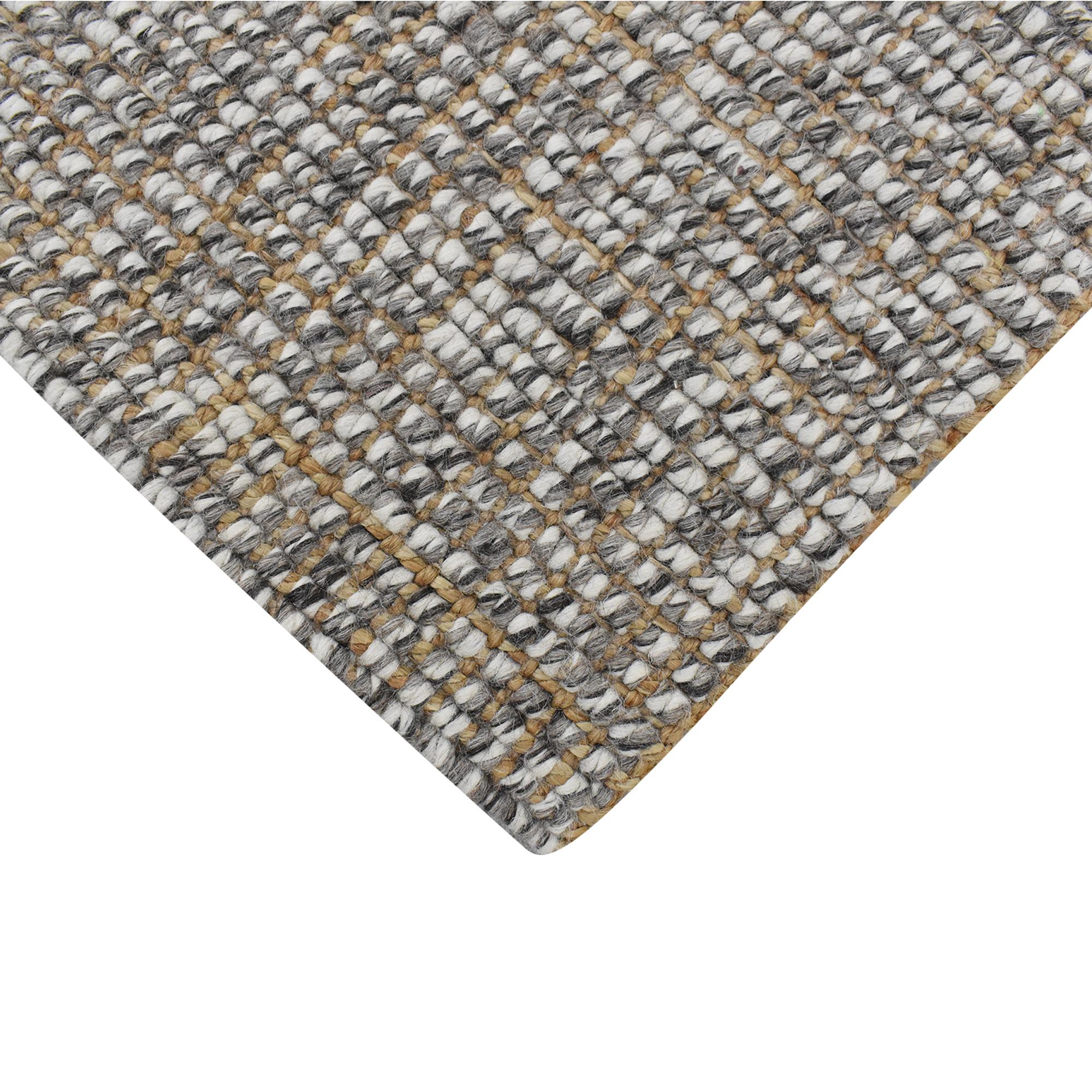 Pottery Barn Chunky Wool Jute Rug 5x8 sale