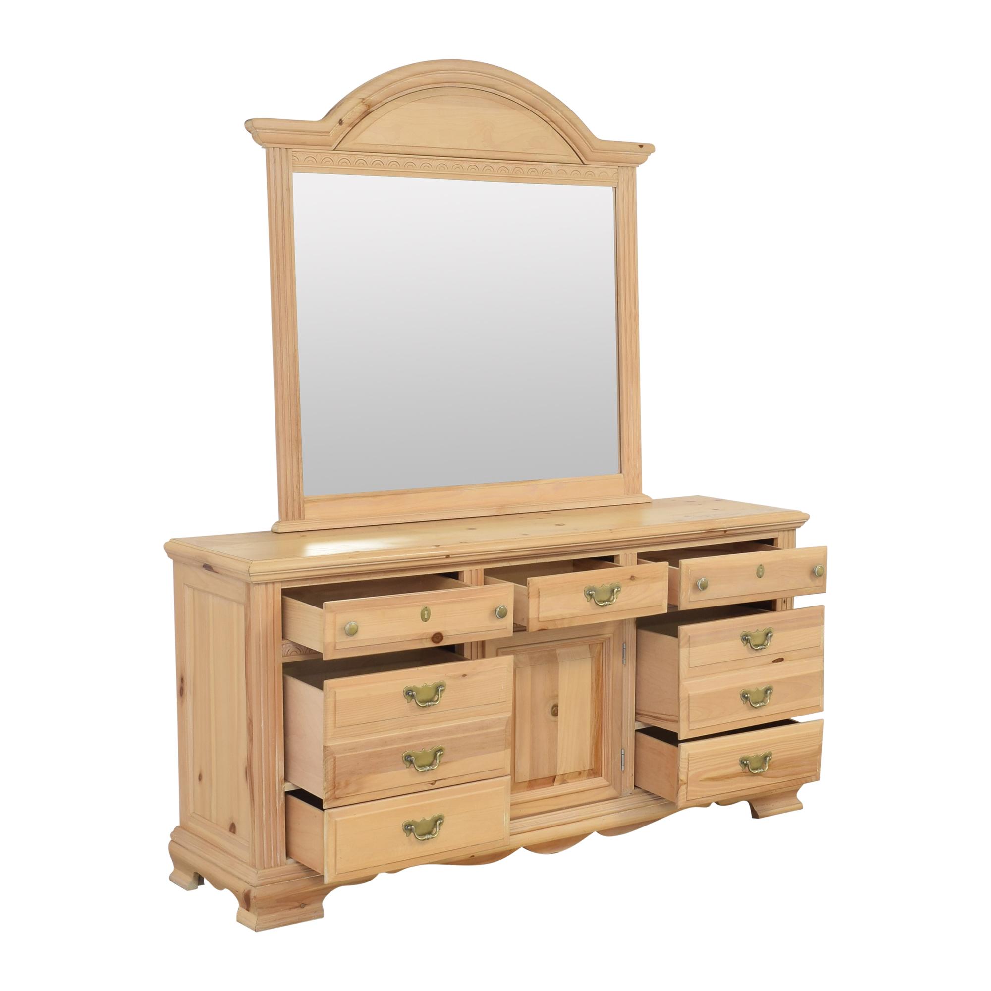 Nine Drawer Dresser with Mirror second hand