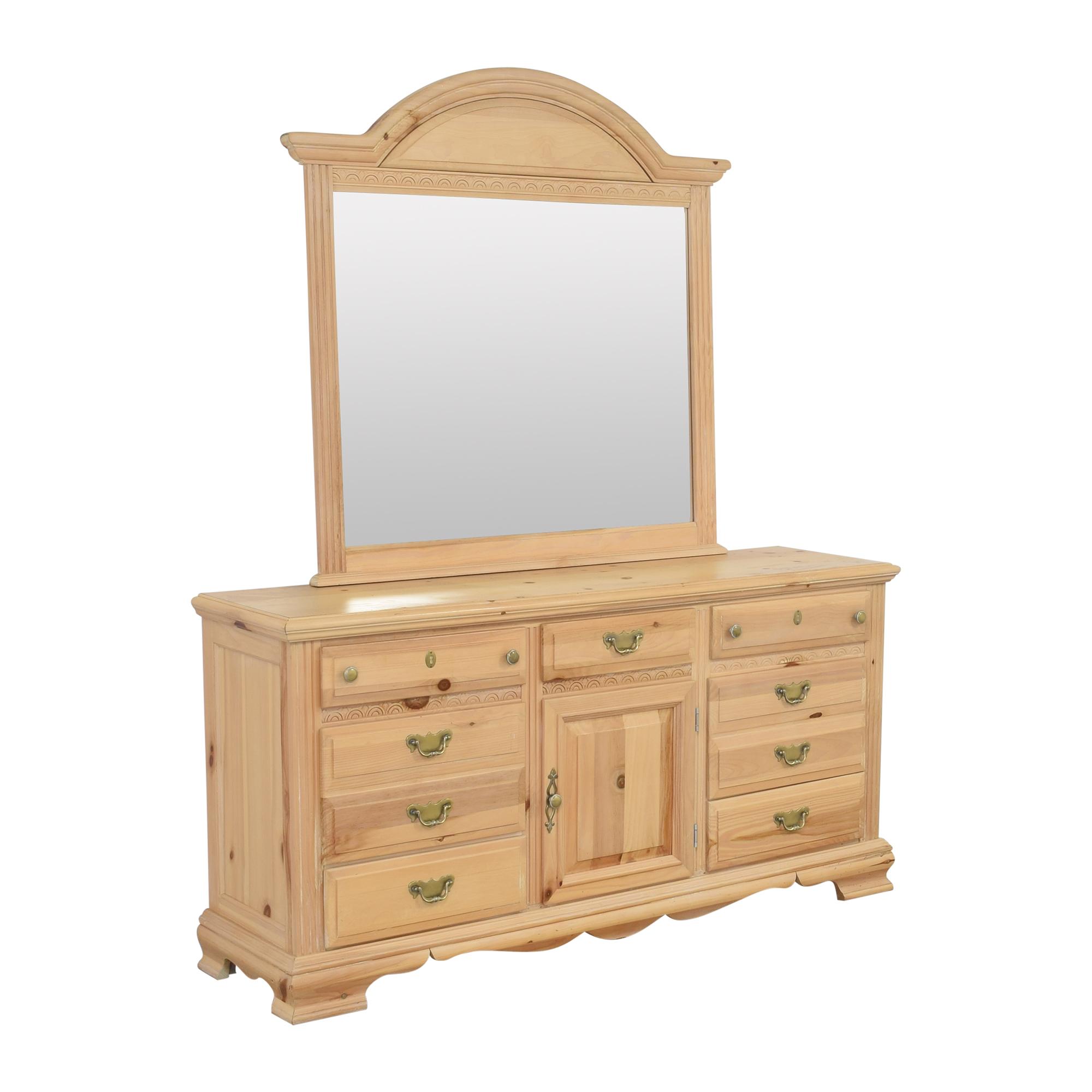 shop Nine Drawer Dresser with Mirror  Storage